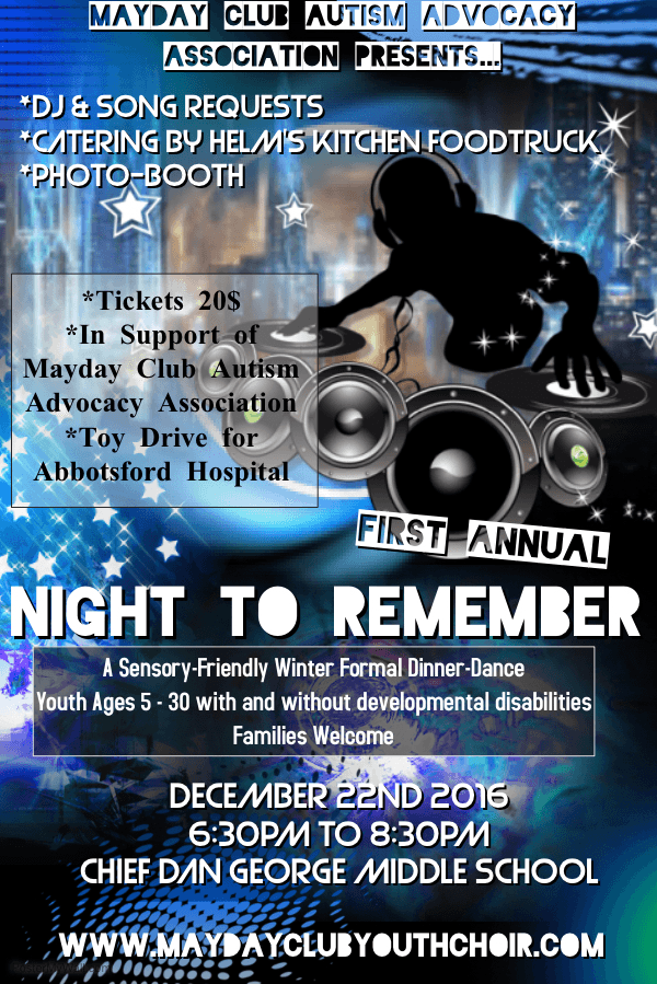 Night to Remember : A Sensory Friendly Winter Formal Dinner Dance