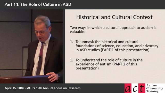 The Invention and Reinvention of Autism: Researching ASD Across Cultures