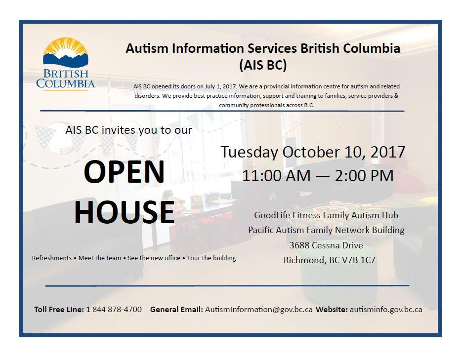 Autism Information Services BC - Open House