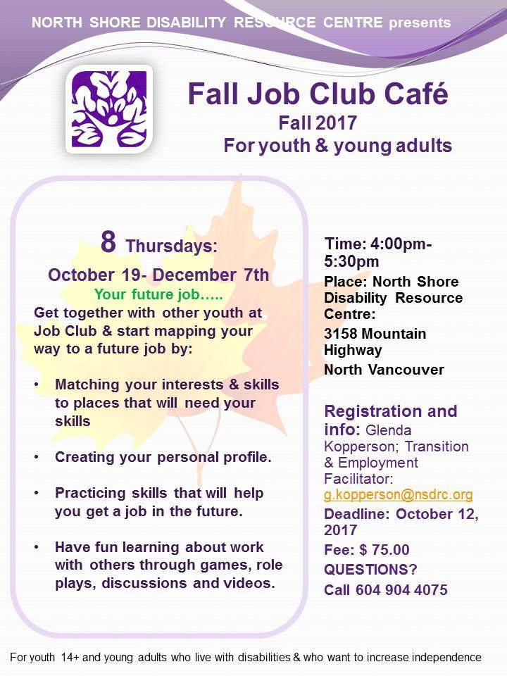 Job Club for Youth and Young Adults