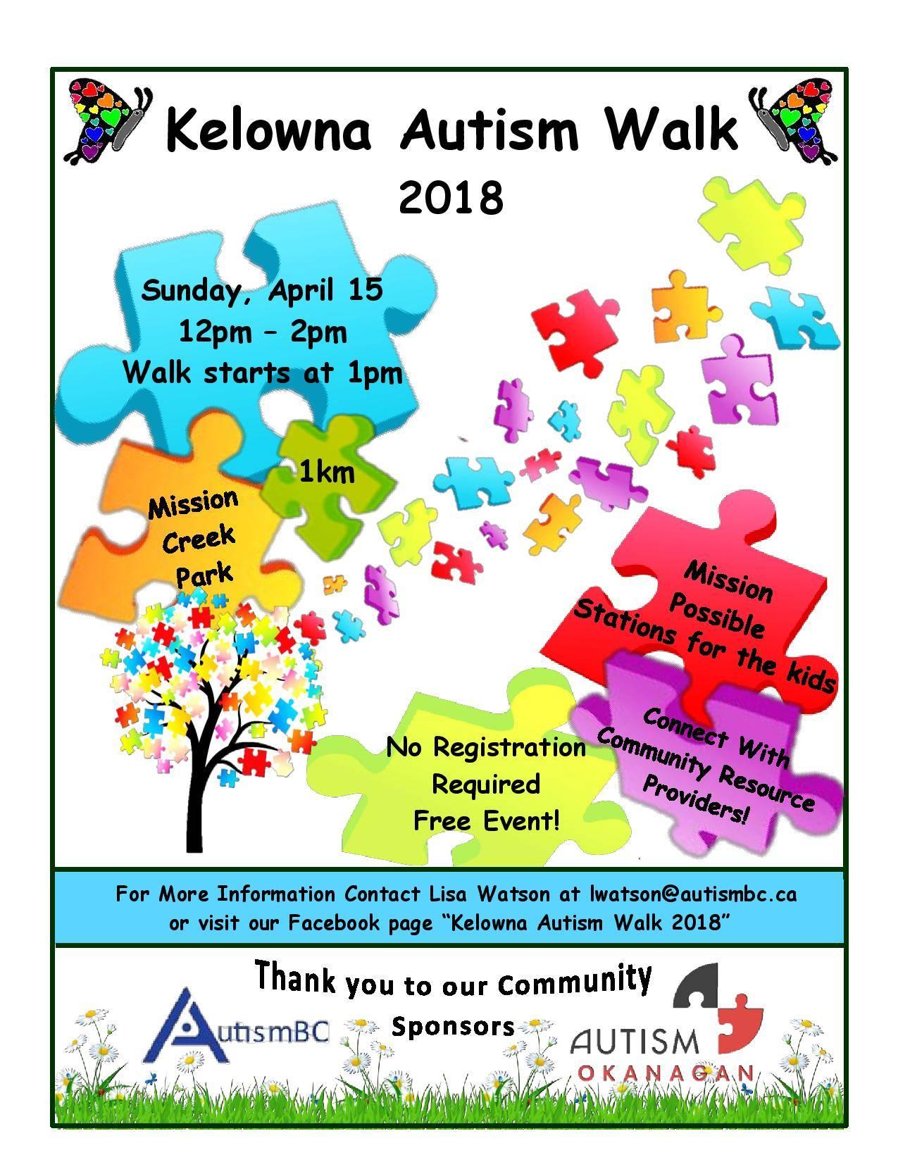 Kelowna Autism Walk 2018