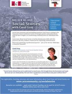 Social Stories with Carol Gray 2018 - Event information