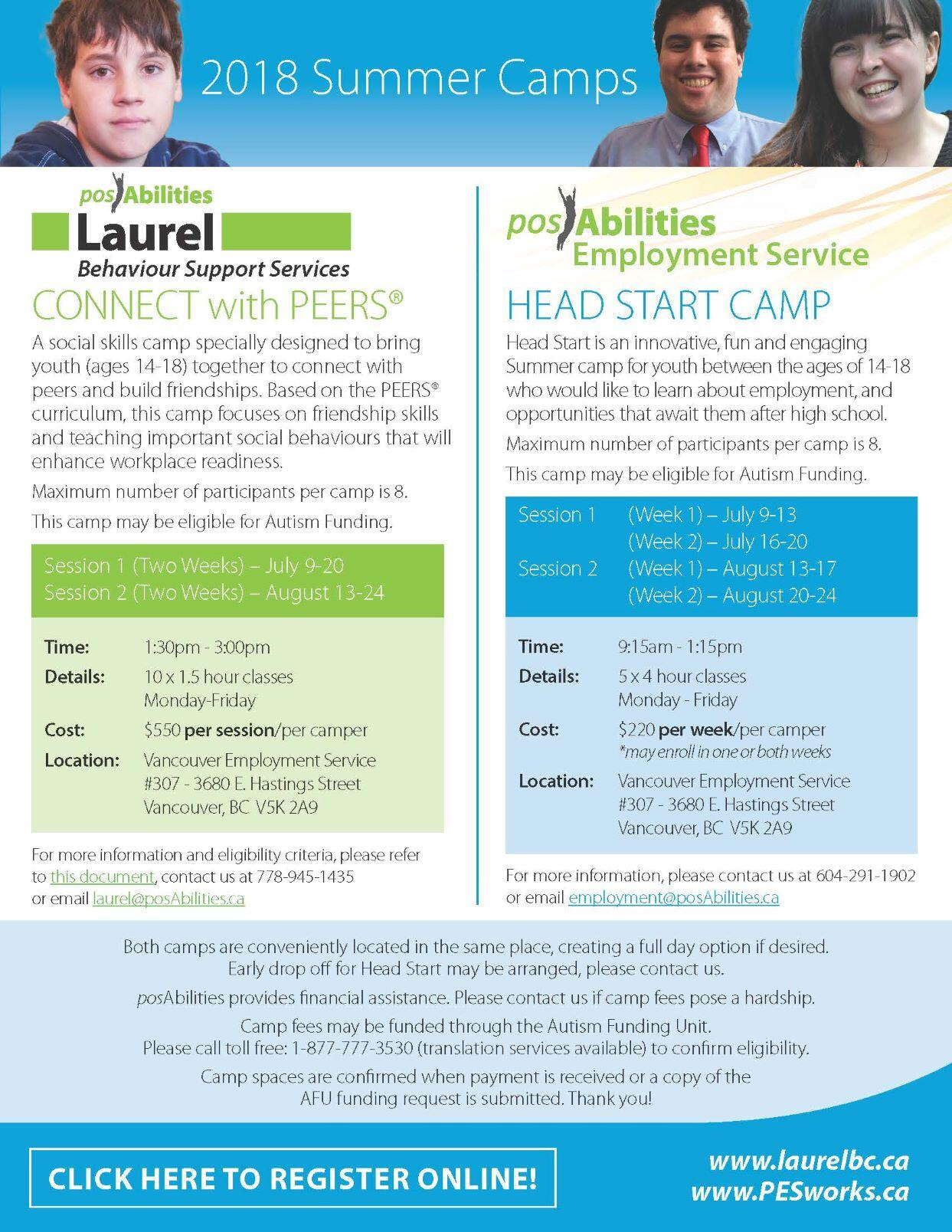 Connect with PEERS Summer Camp