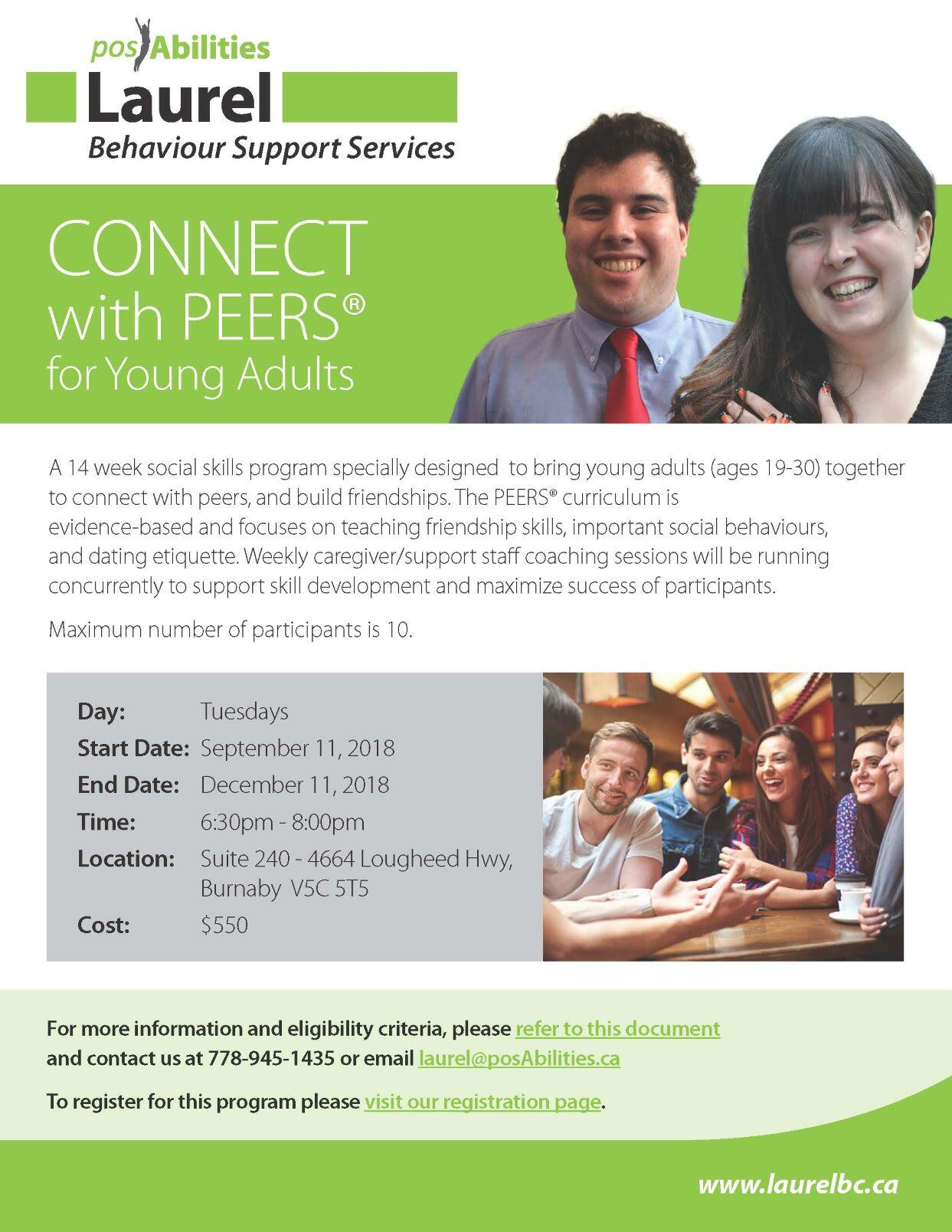 Connect with PEERS(r) for Young Adults (19-30)