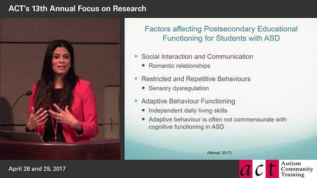 Mental Health in Post-Secondary Education: What is It Like for Students with ASD and What Does the Research Say? - Rashmeen Nirmal