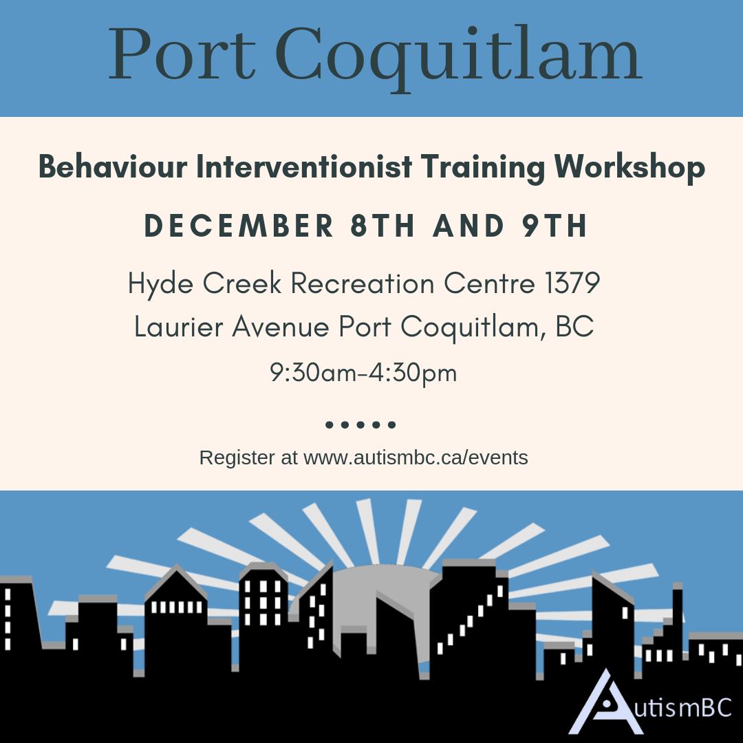 Behaviour Interventionist Training Workshop Port Coquitlam