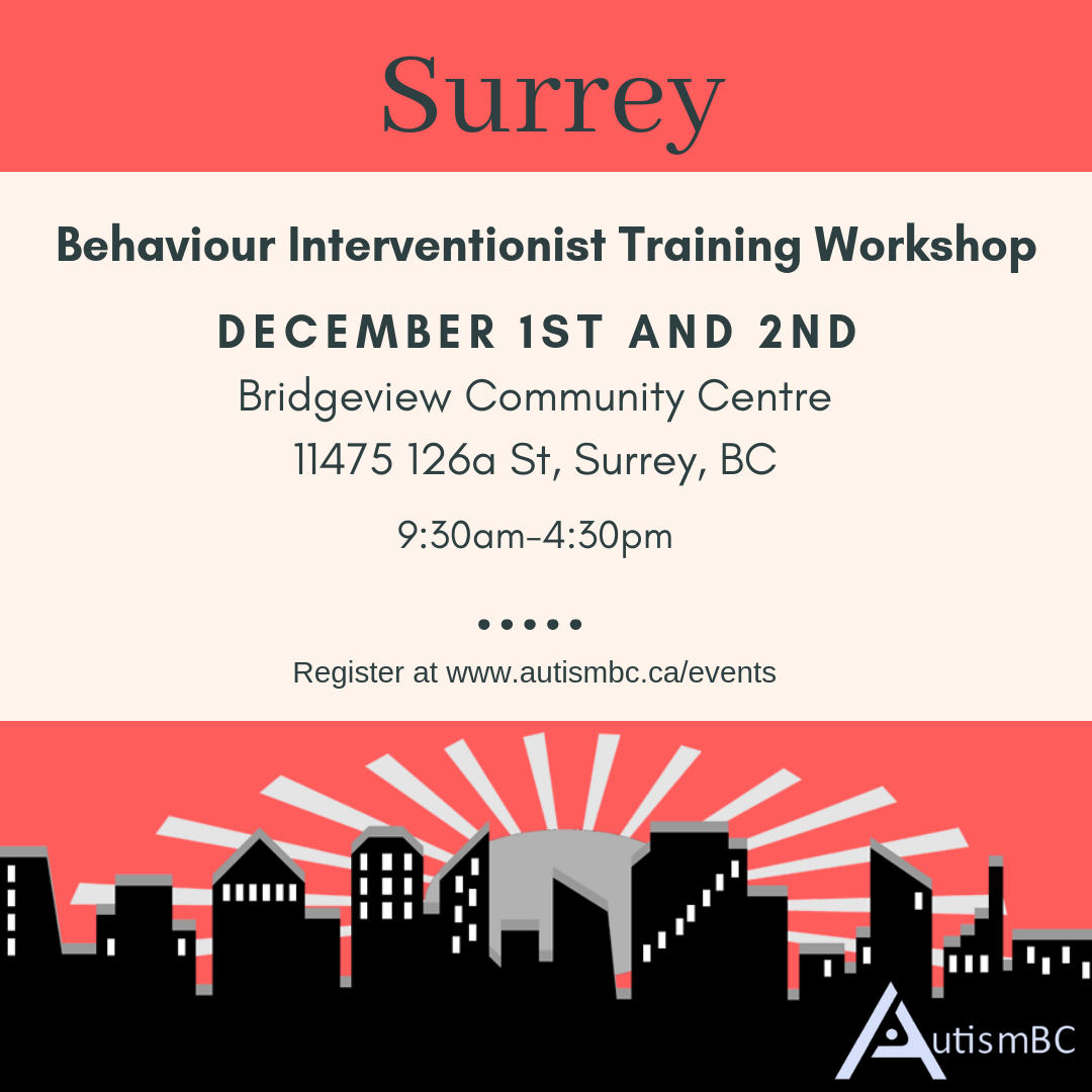 Behaviour Interventionist Training Workshop Surrey