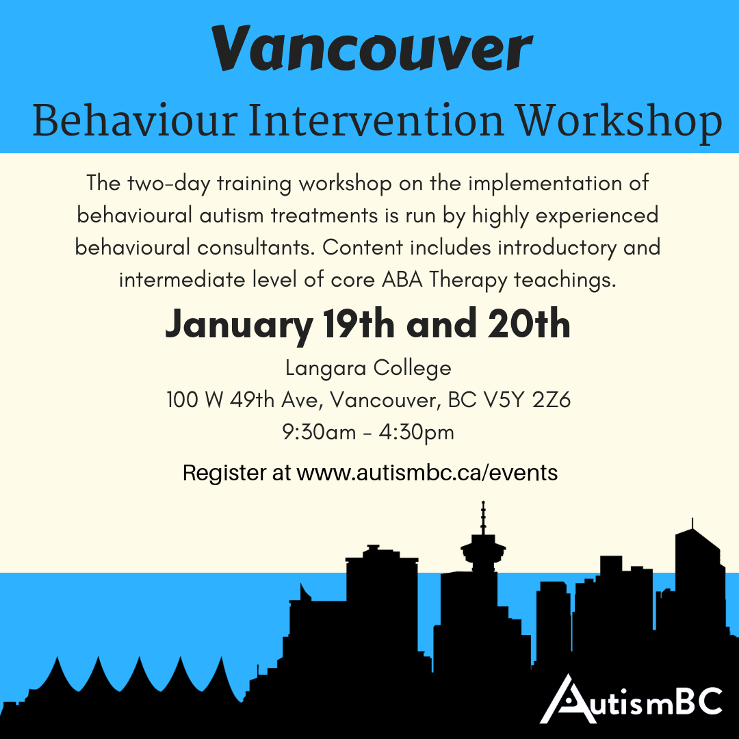 Behaviour Interventionist Training Workshop Vancouver