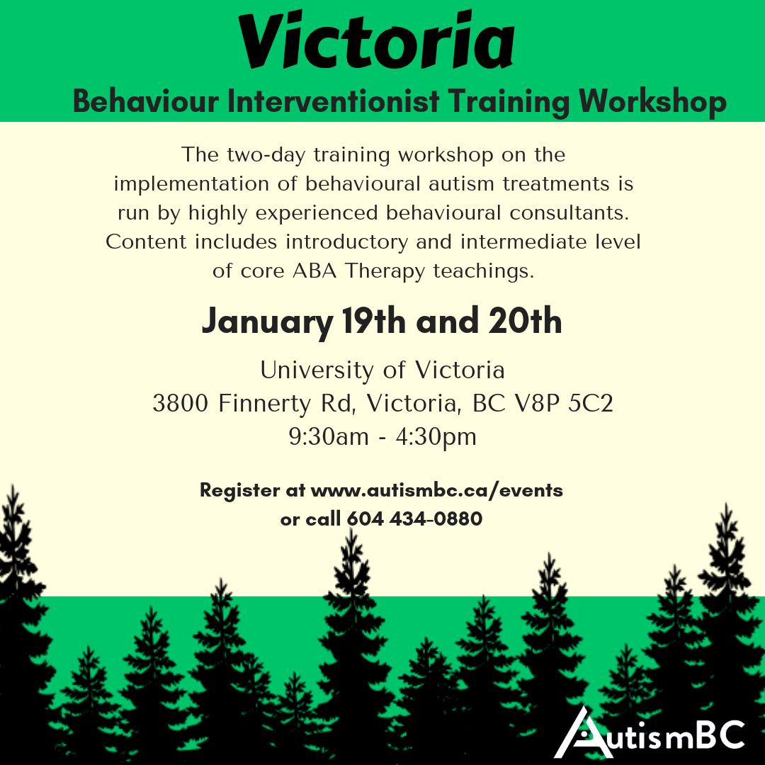 Behaviour Interventionist Training Workshop Victoria