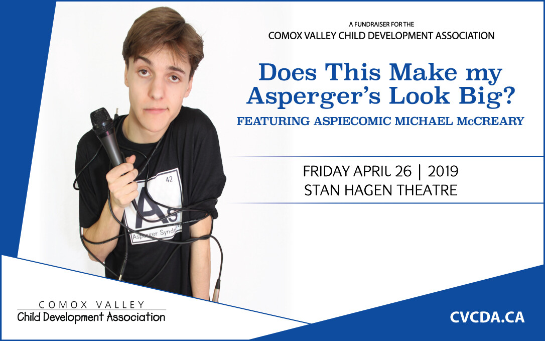 """Aspie Comic, Micheal McCreary in """"Does This Make my Asperger's Look Big?"""""""