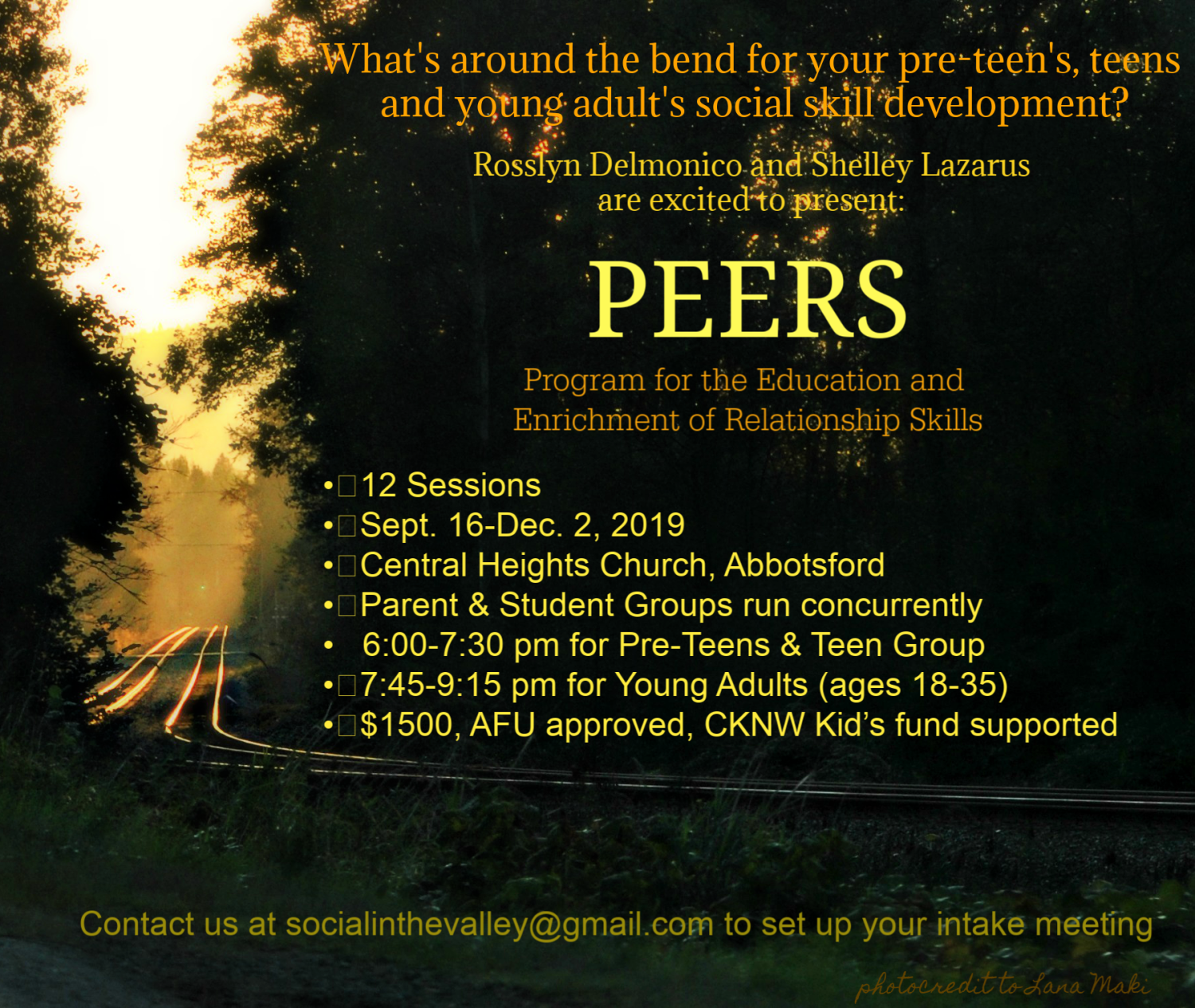 PEERS© in the Valley, Pre-teens &Teens