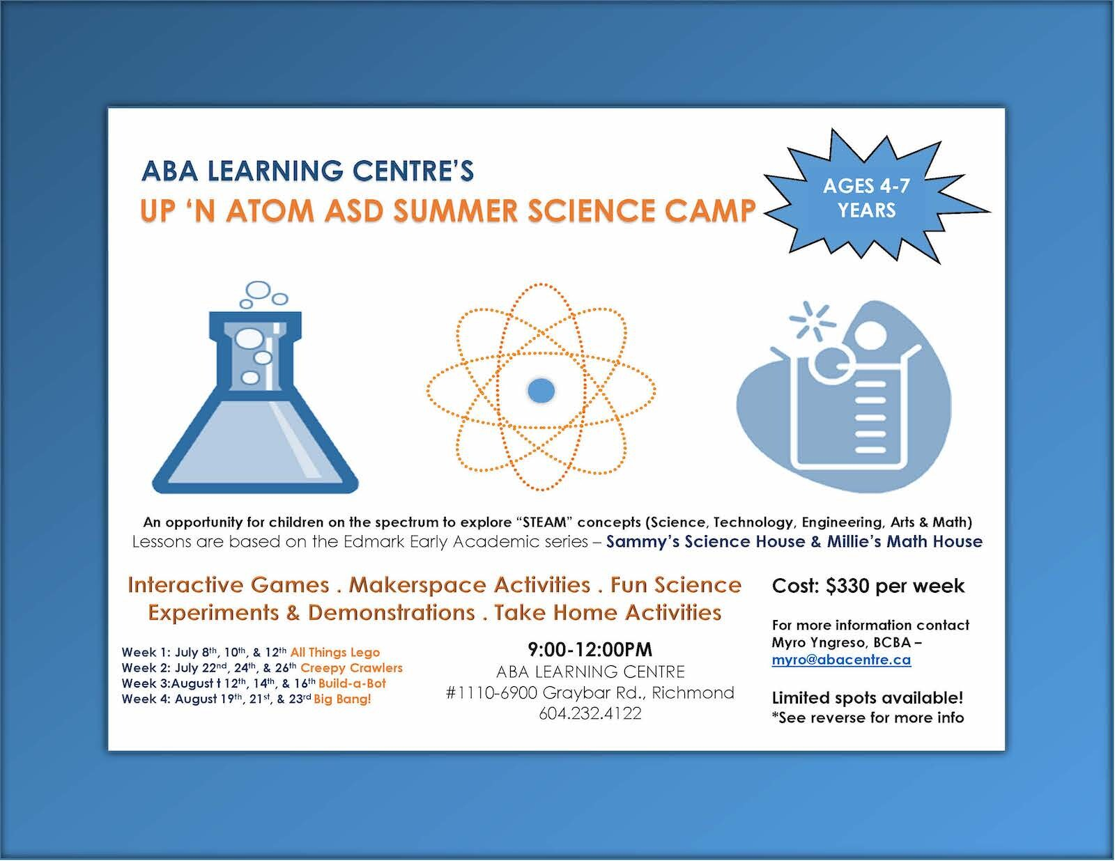 Up N' Atom Summer Science Camp