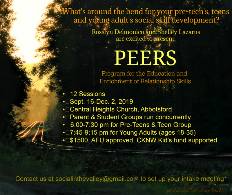PEERS© in the Valley for Young Adults