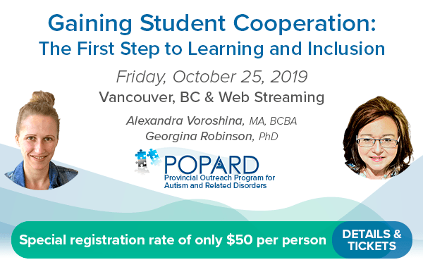 POPARD's District Training Model - Friday, October 25th, 2019 - Alexandra Voroshina, MA, BCBA & Georgina Robinson, PhD