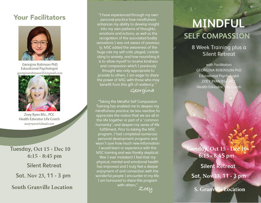 Mindful Self Compassion (MSC) Course - 8 Week Training & Silent Retreat