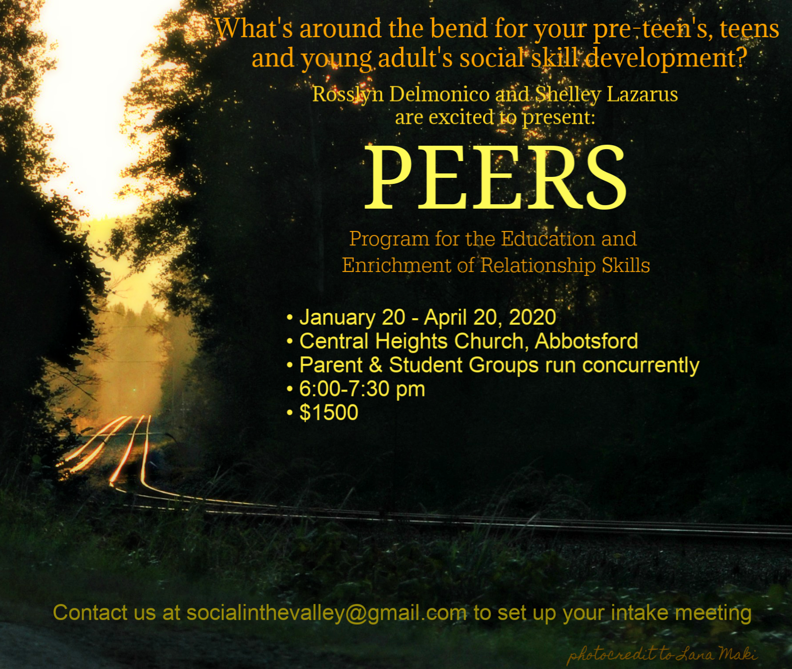 PEERS© in the Valley, Pre-teens, Teens & Young Adults