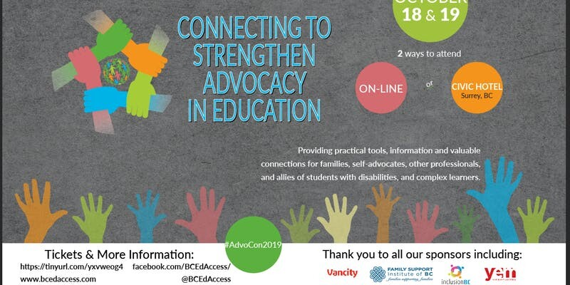 AdvoCon2019 - Connecting to Strengthen Advocacy In Education