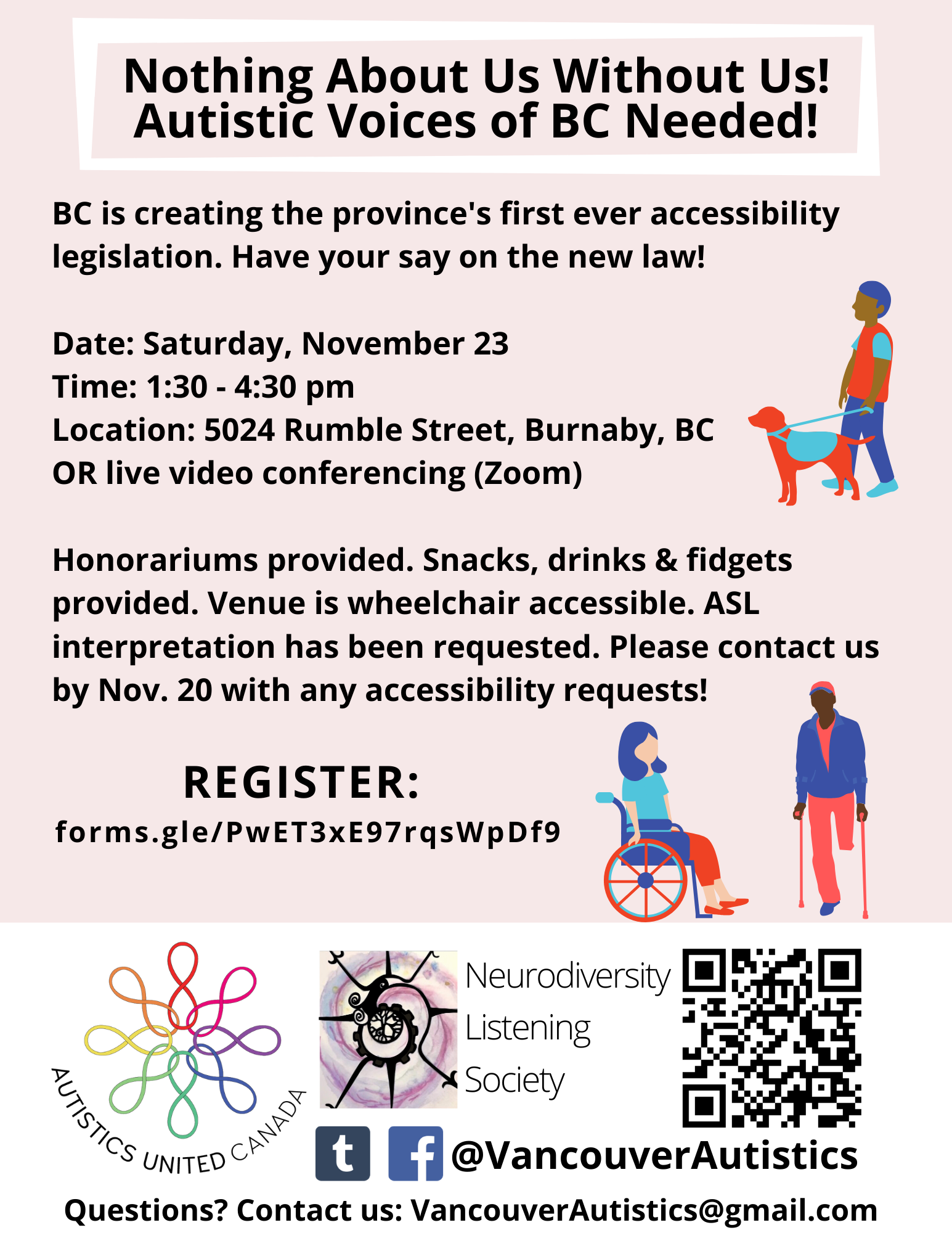 Autistic Input Session for BC Accessibility Legislation