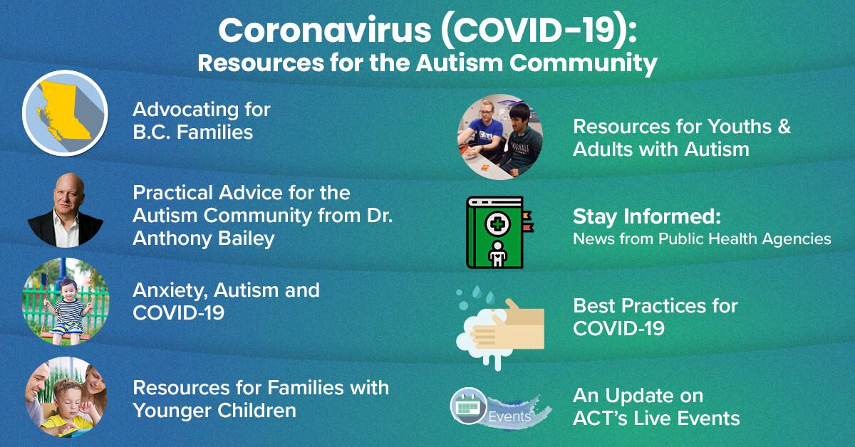 Coronavirus Covid 19 Resources For The Autism Community Act Autism Community Training