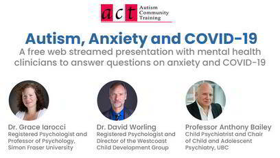 Autism, Anxiety and COVID-19