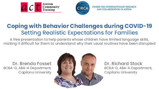 Coping with Behavior Challenges during COVID-19 – Setting Realistic Expectations for Families