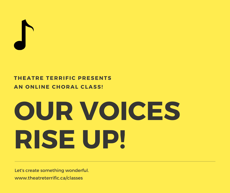OUR VOICES – Rise UP Online Choral Class
