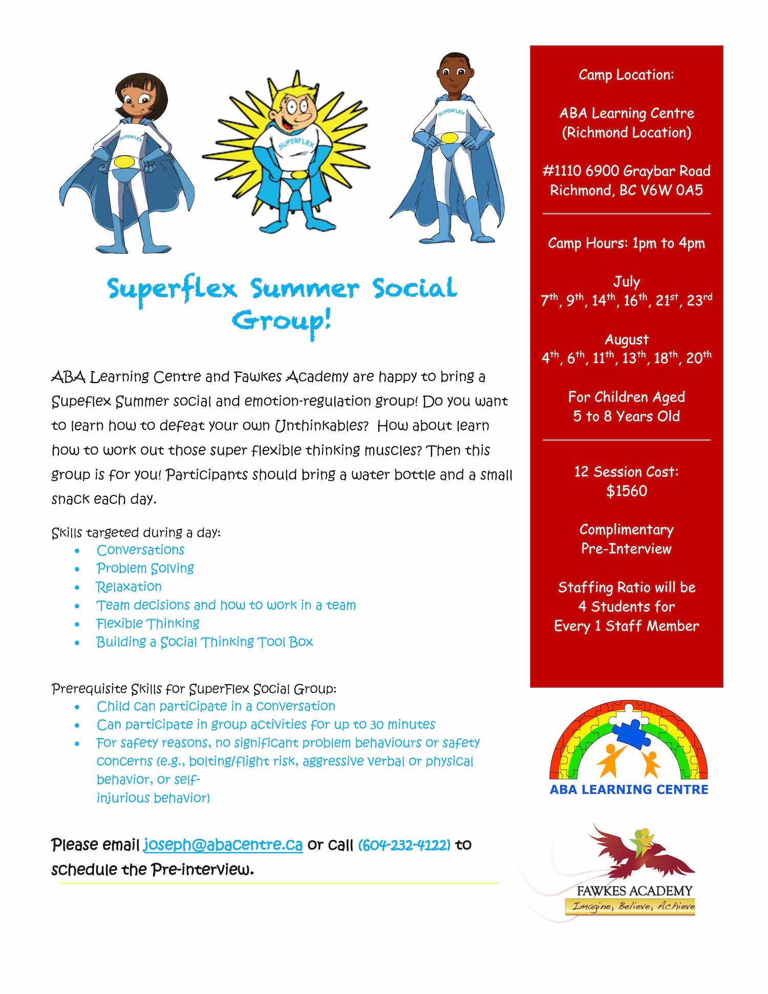 Superflex - Summer Social Skills Group