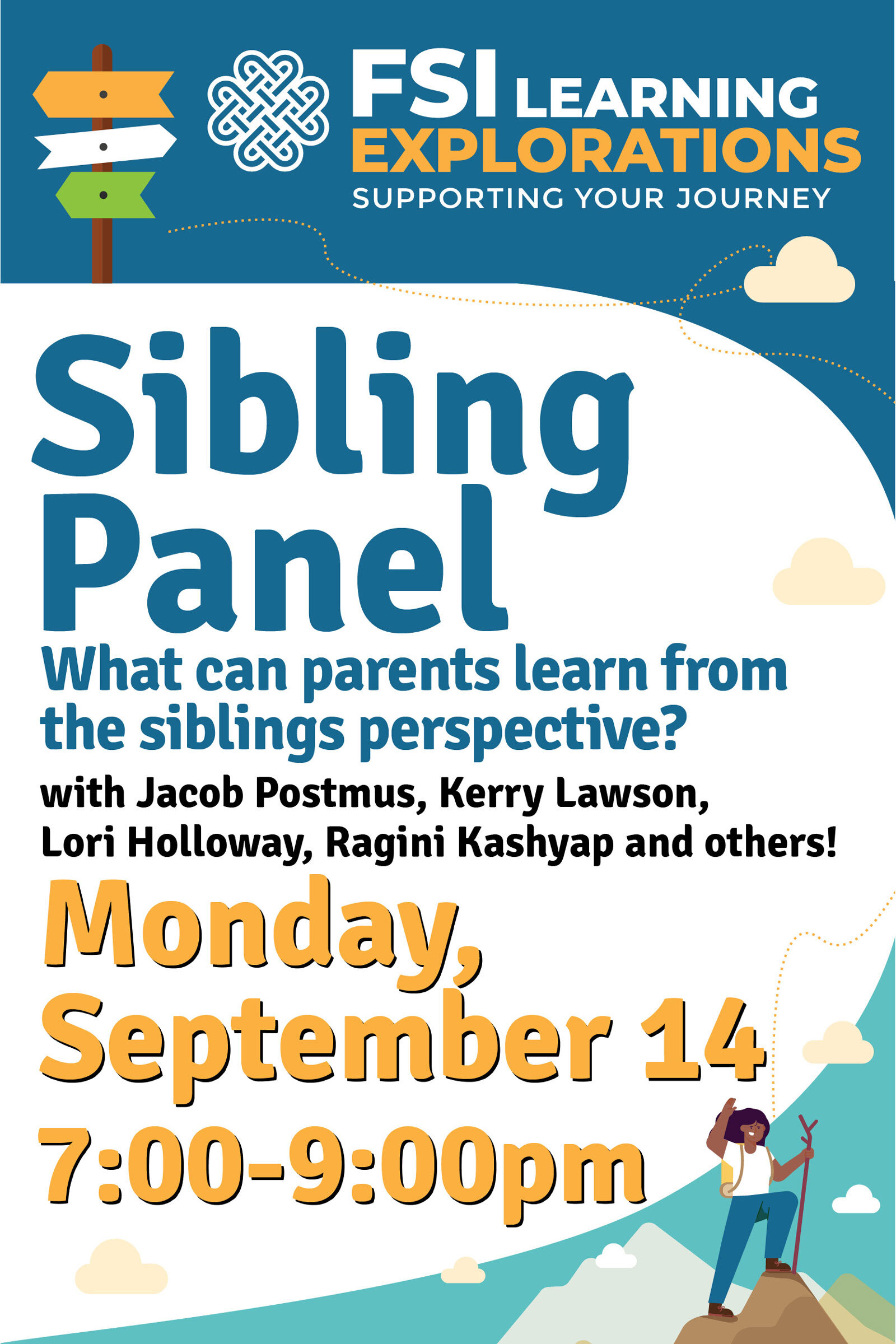 FSI Learning Explorations - Sibling Panel - What can parents learn from the sibling perspectives?
