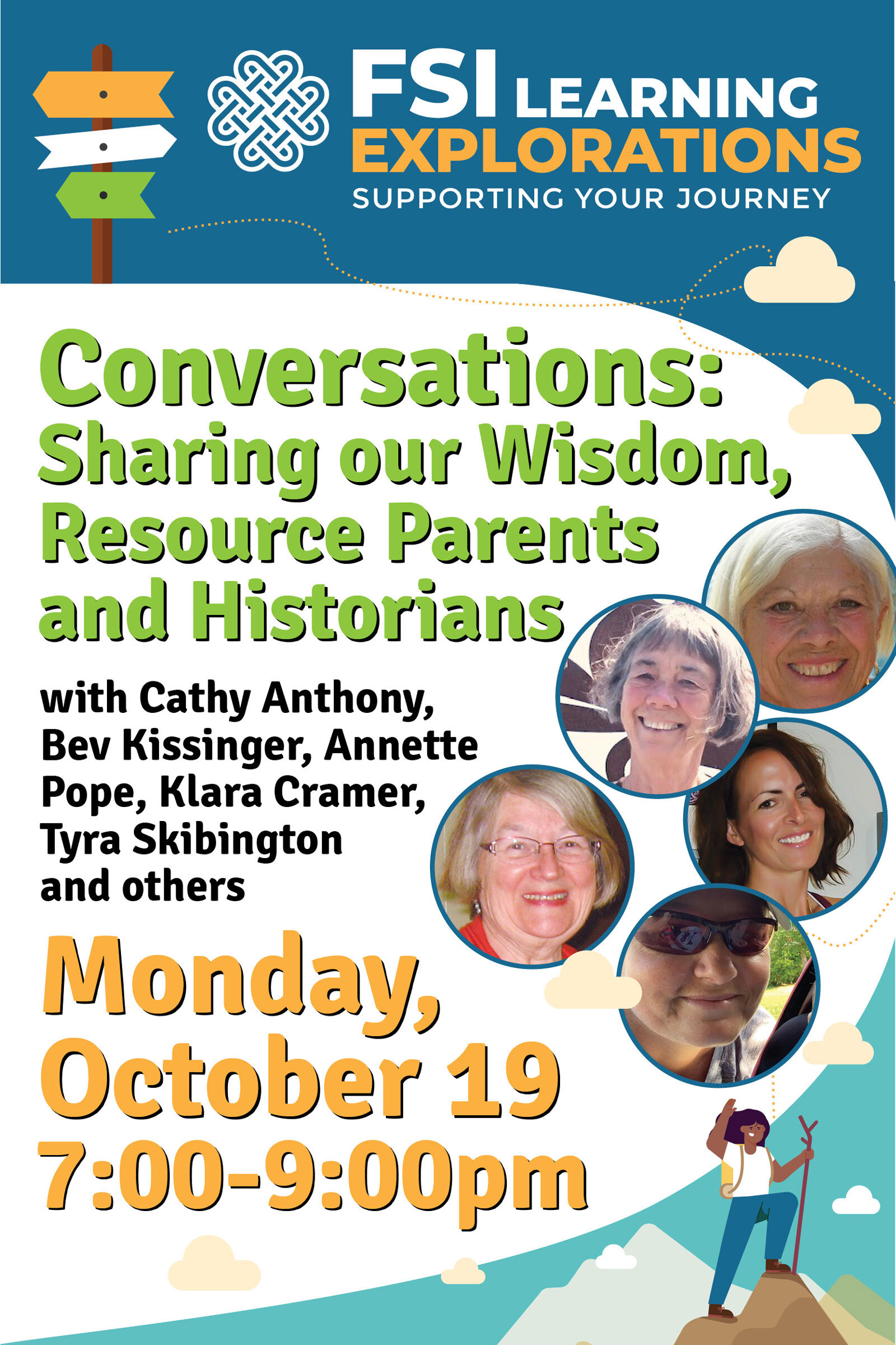 FSI Learning Explorations - Conversations: Sharing our Wisdom, Resource Parents and Historians