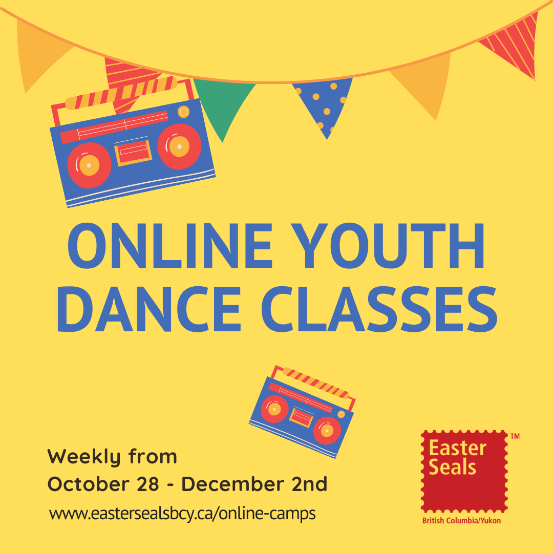 Easter Seals - Weekly Online Dance Classes for Ages 6-18