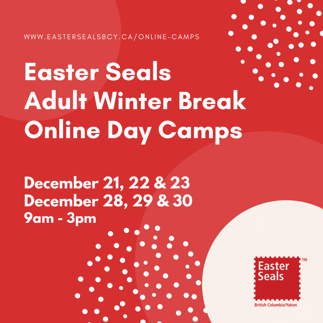 Easter Seals Adult Winter Break Online Day Camps - Session #1