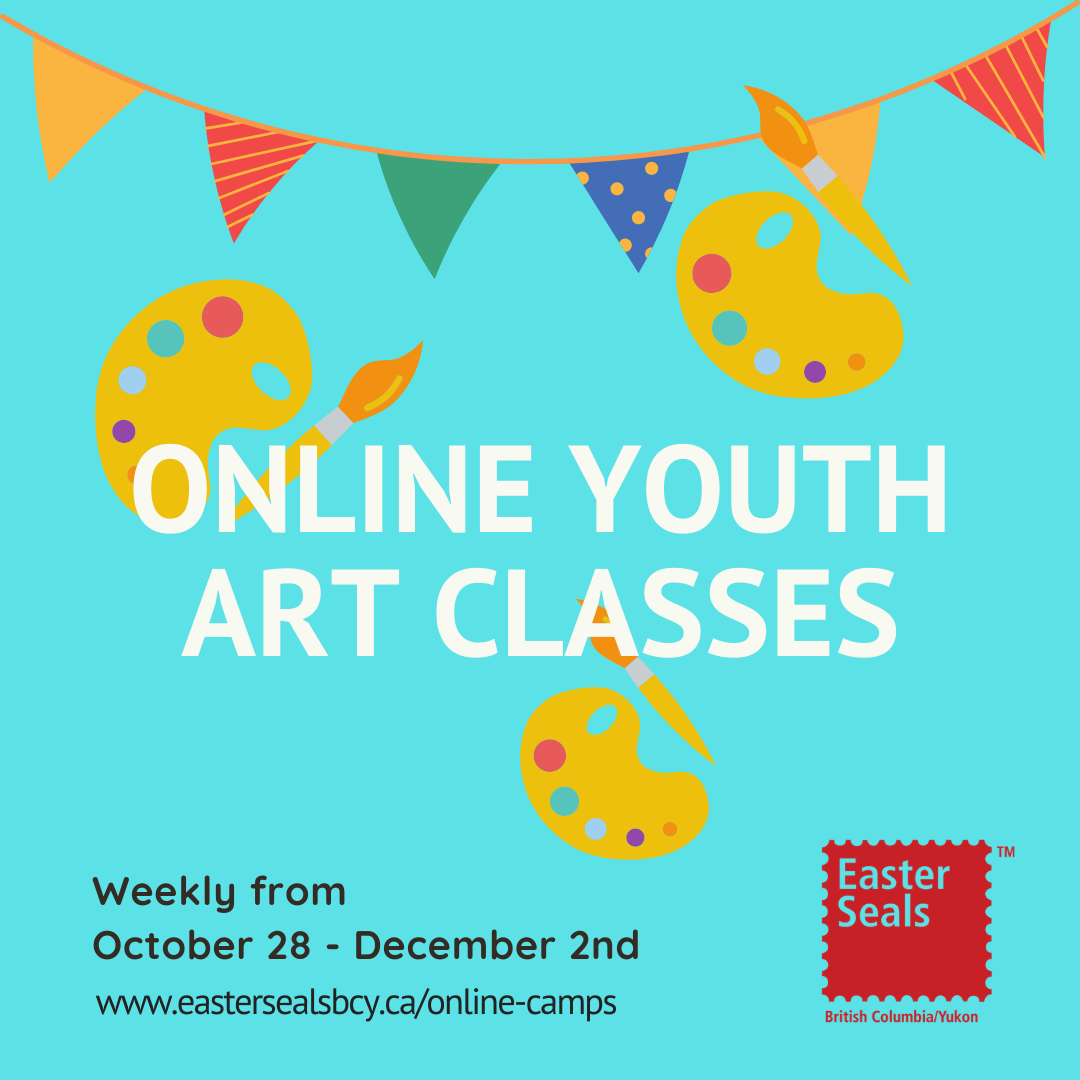 Easter Seals - Weekly Online Art Classes for Ages 6-18