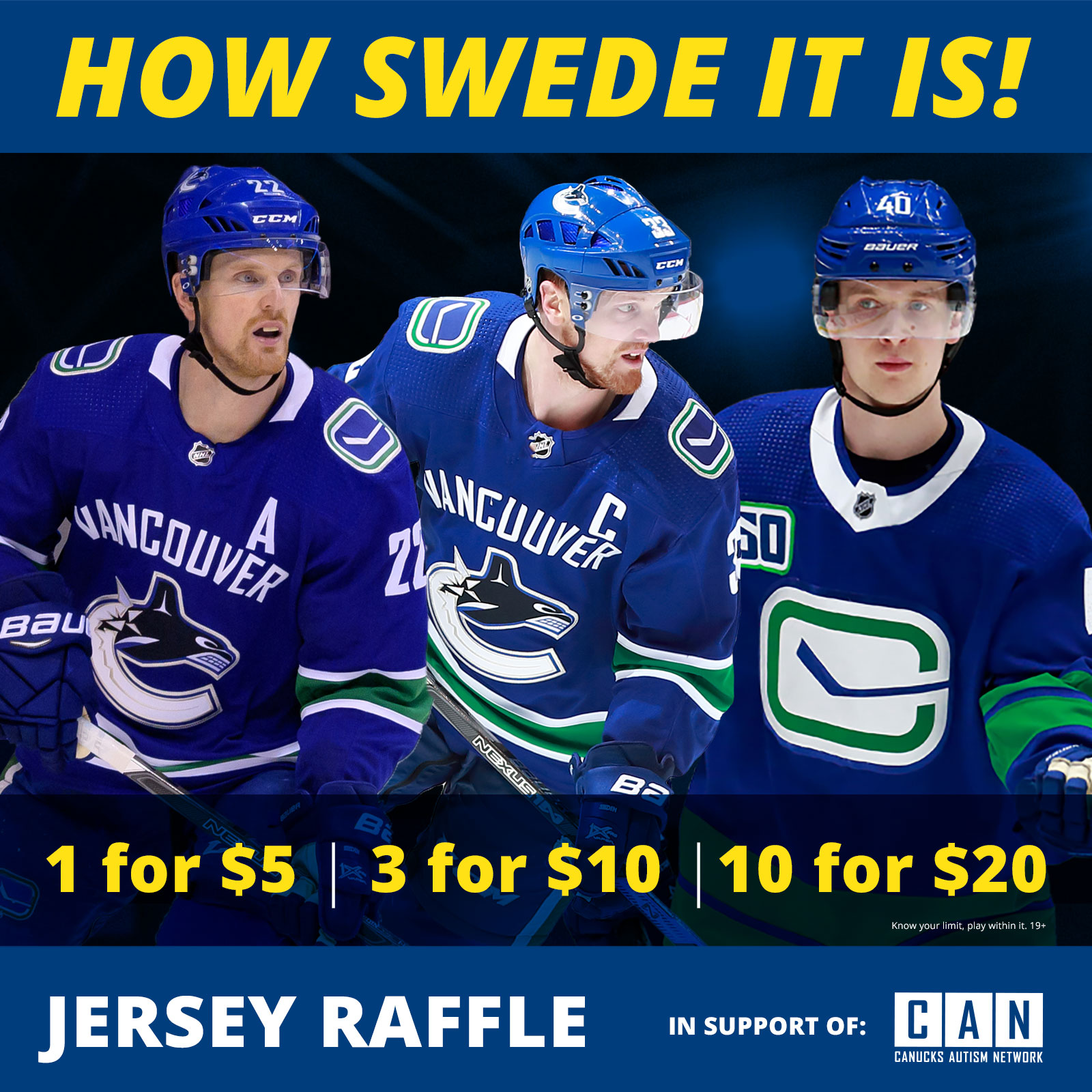 Canucks Autism Network | Signed Jersey Raffle
