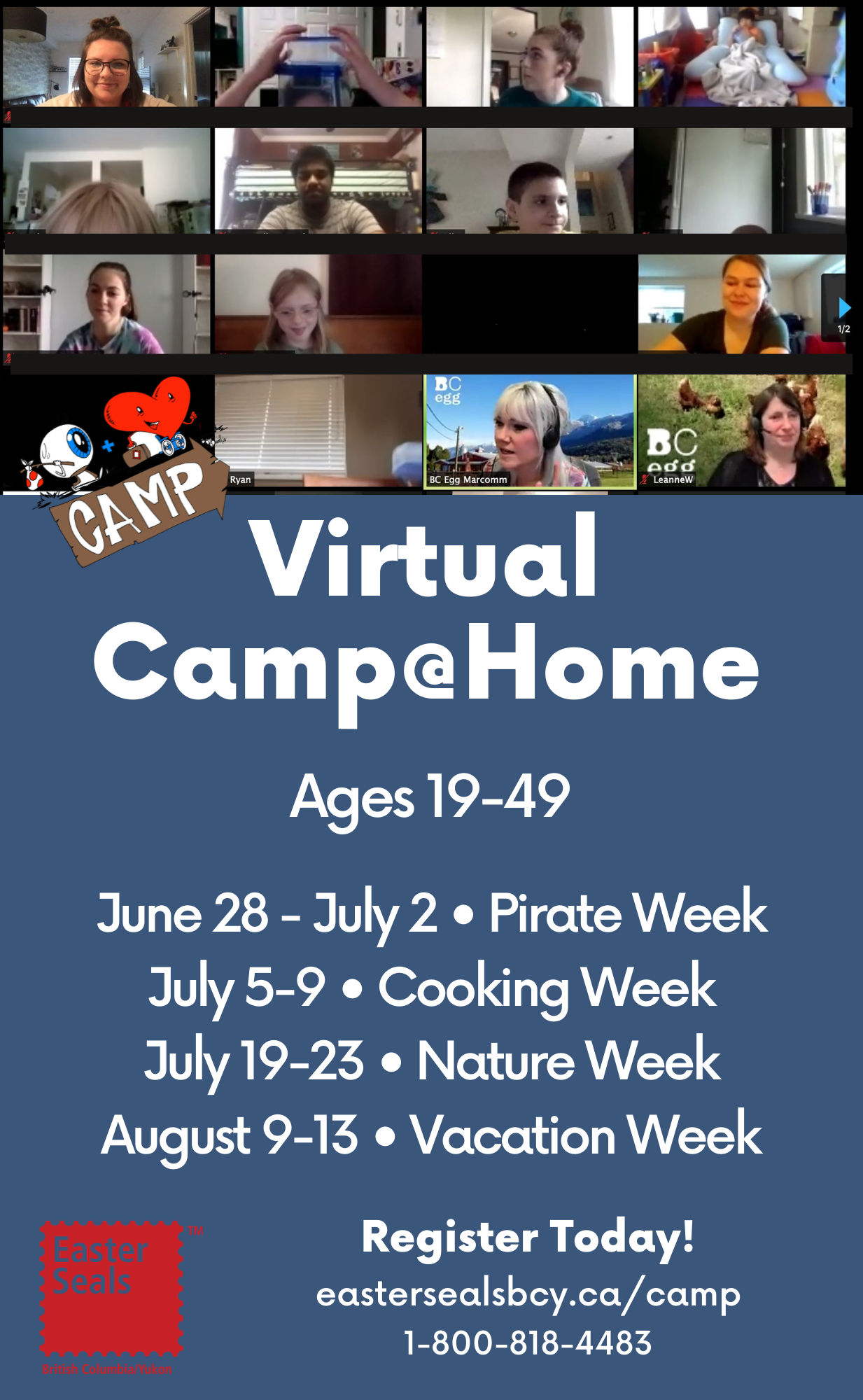 Virtual Summer Camp@Home For Adults (Ages 19-49)