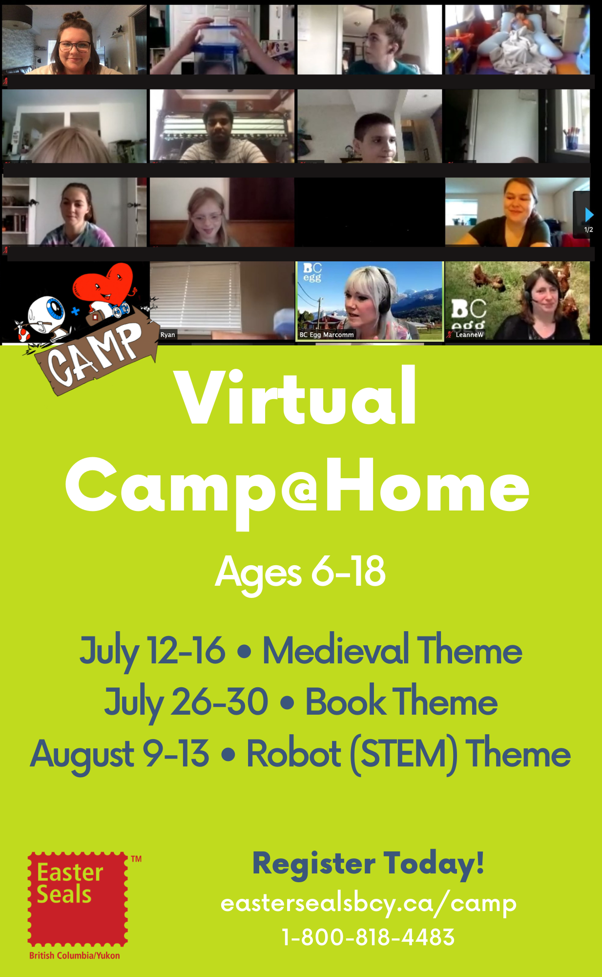 Virtual Summer Camp@Home (Ages 6-18)