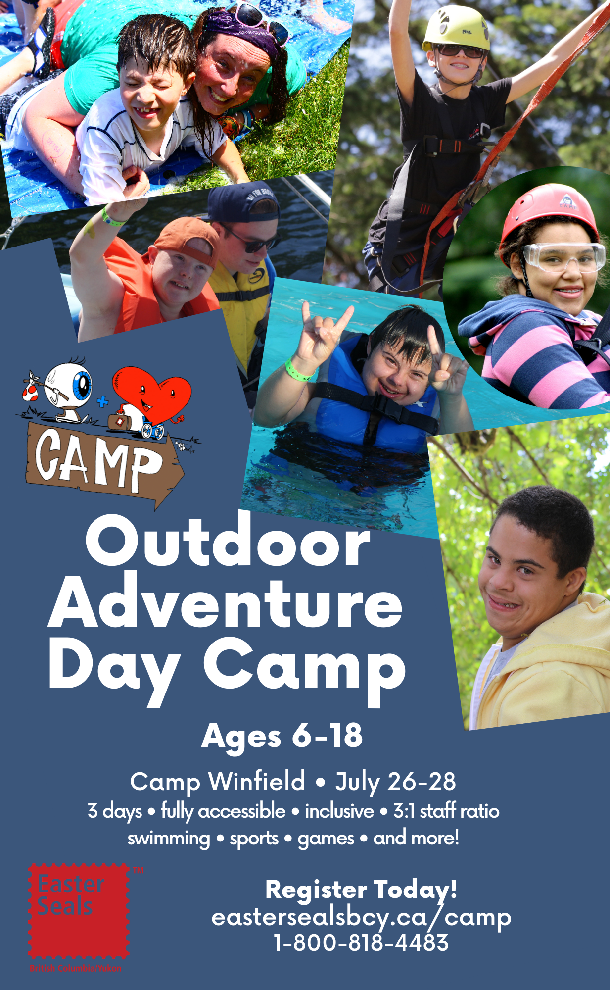 Outdoor Adventure Day Camp - 3 Days (Ages 6-18)