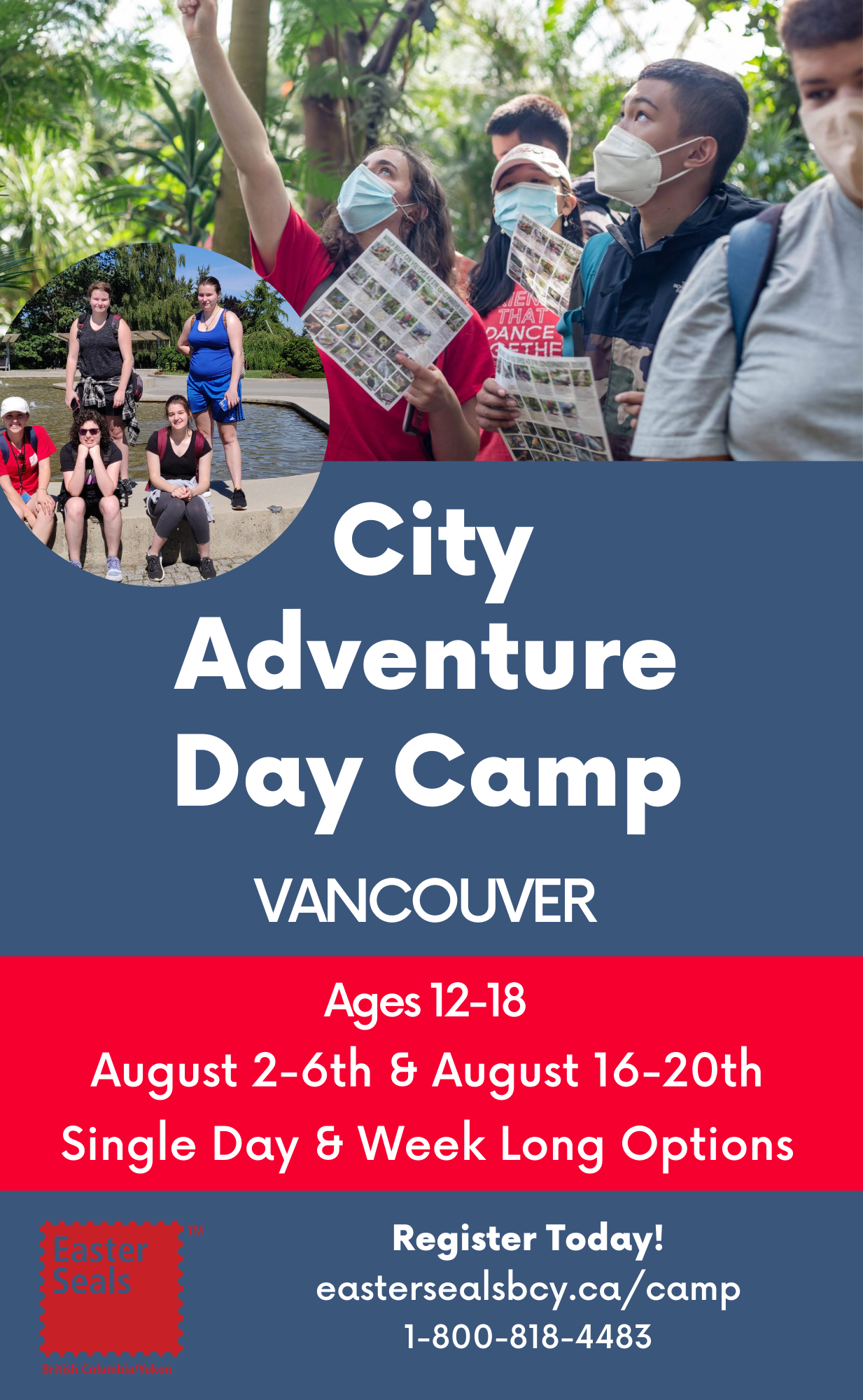 City Adventure Day Camp in Vancouver - Single Day & Week Long Options (Ages 12-18)