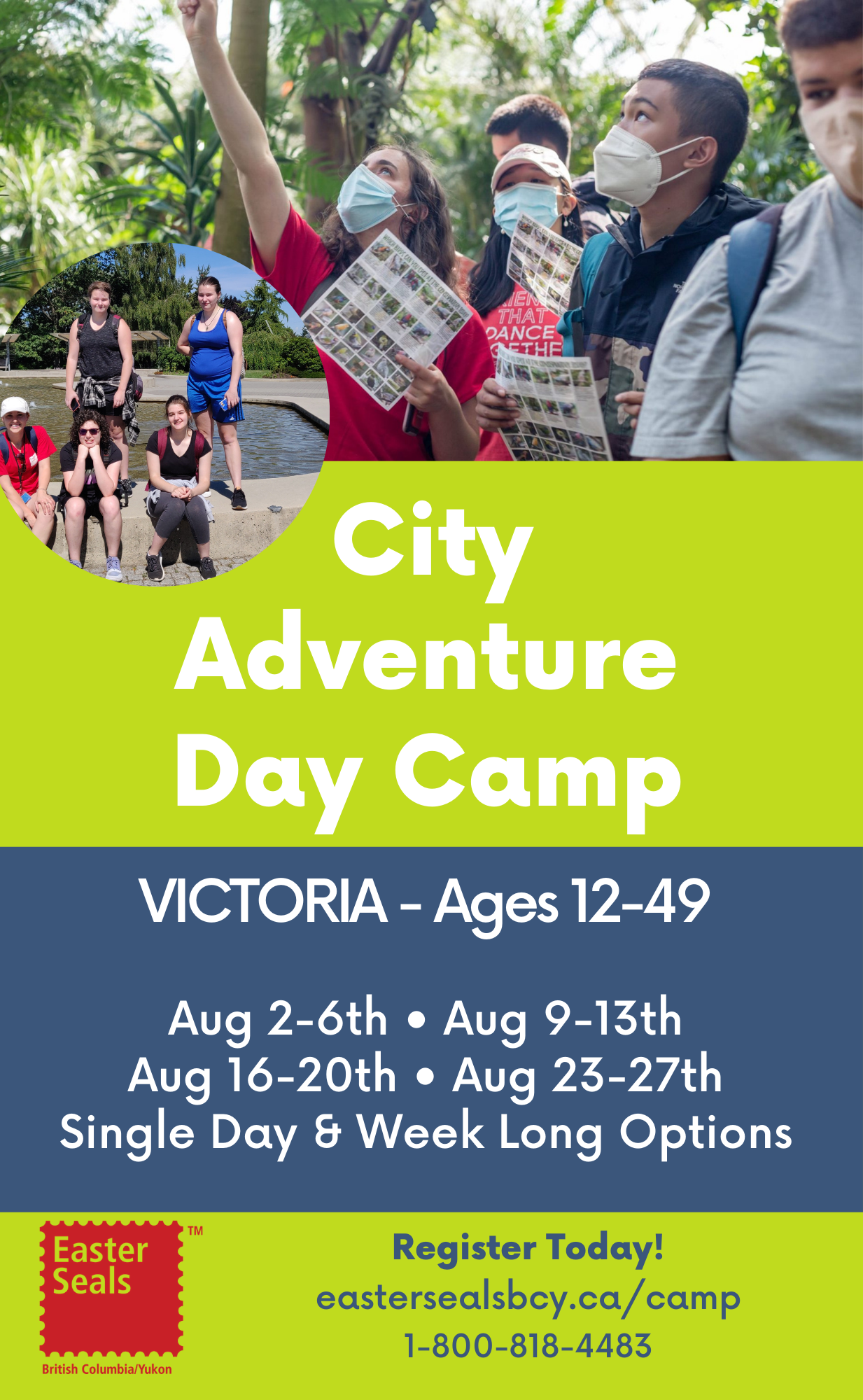City Adventure Day Camp in Victoria - Single Day & Week Long Options (Ages 12-49)