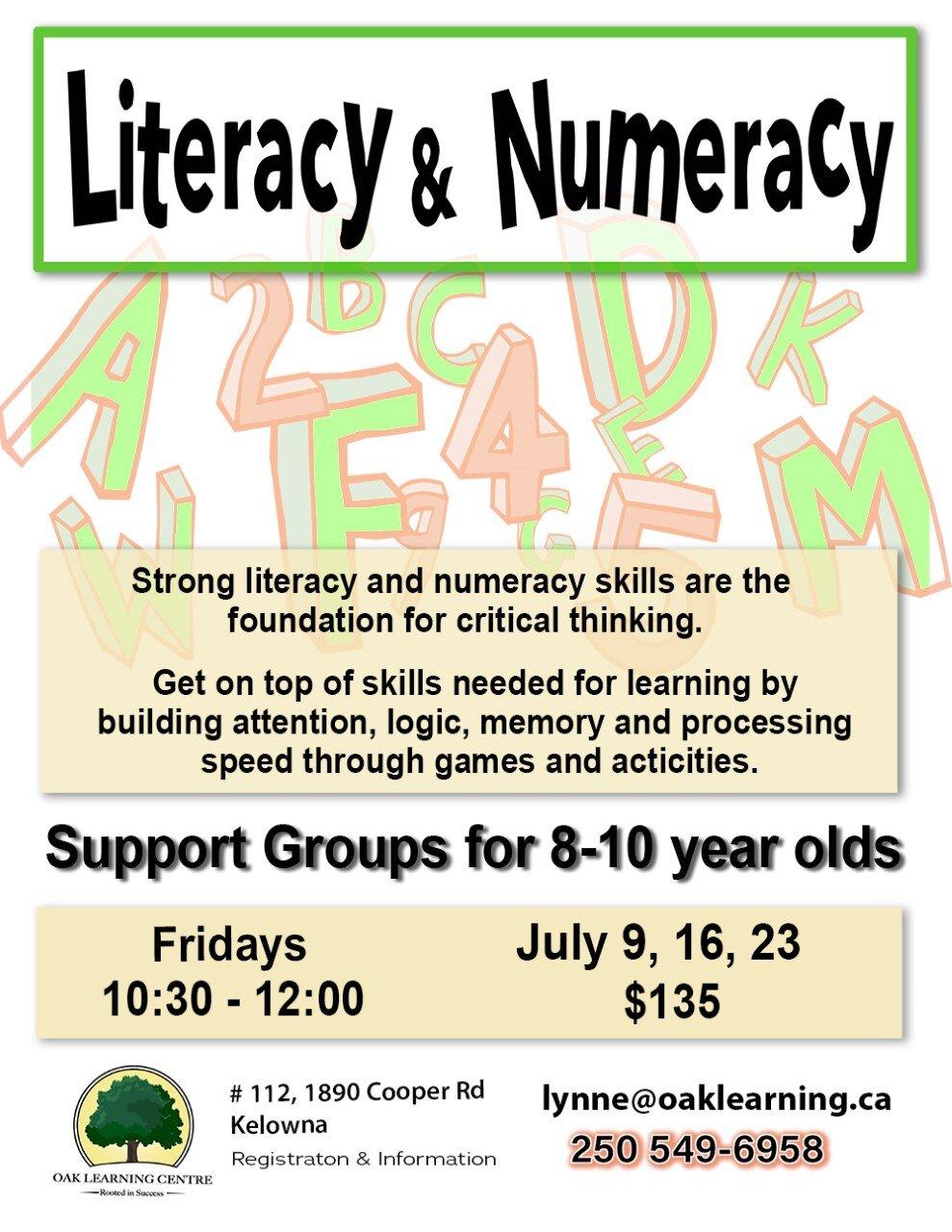 Literacy & Numeracy @ Oak Learning Centre Kelowna