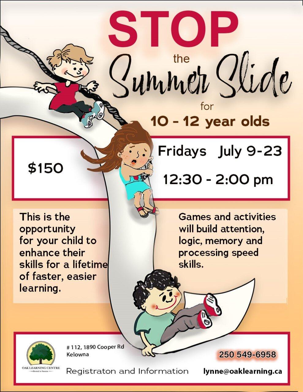 Stop the Summer Slide @ Oak Learning Centre Kelowna