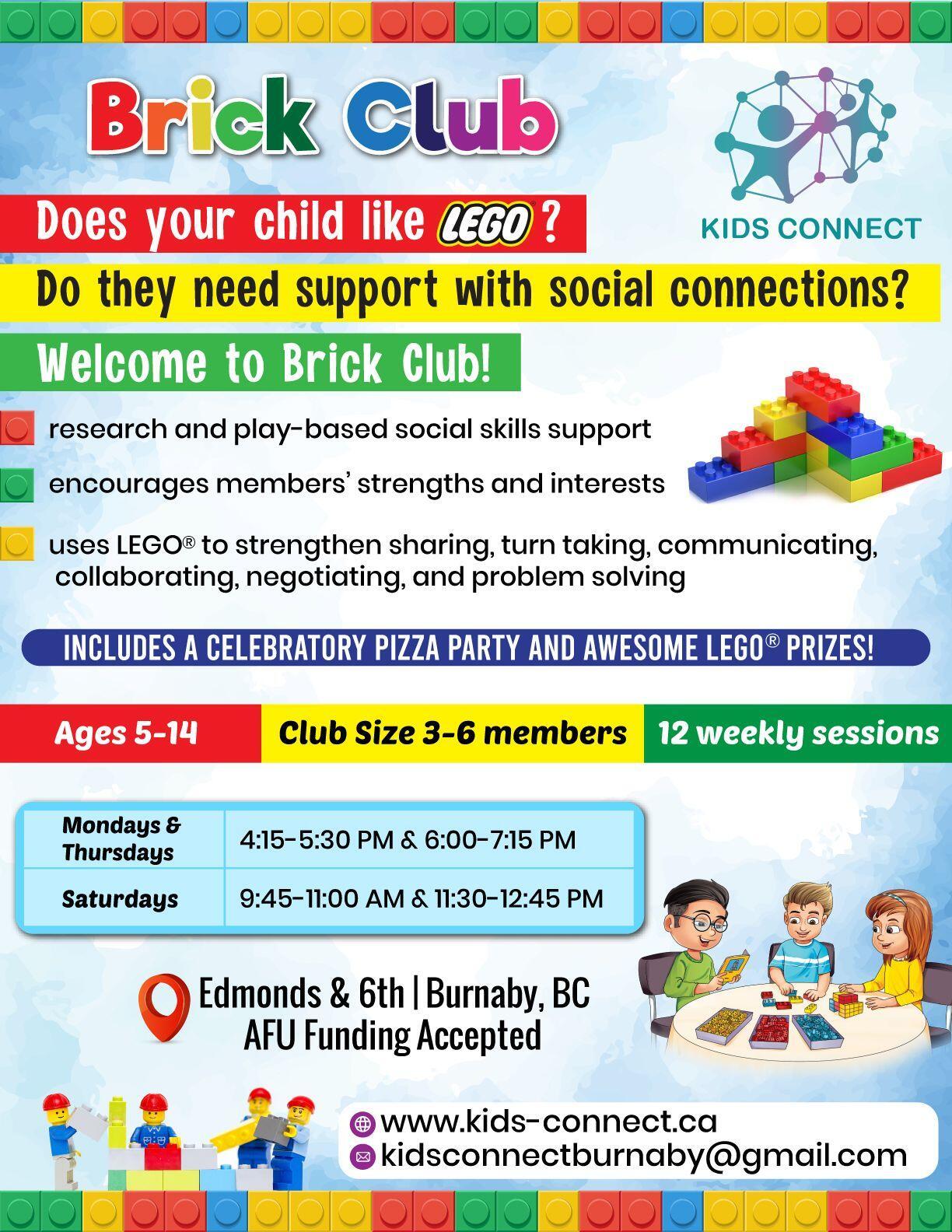 BRICK CLUB - Social Skills Group