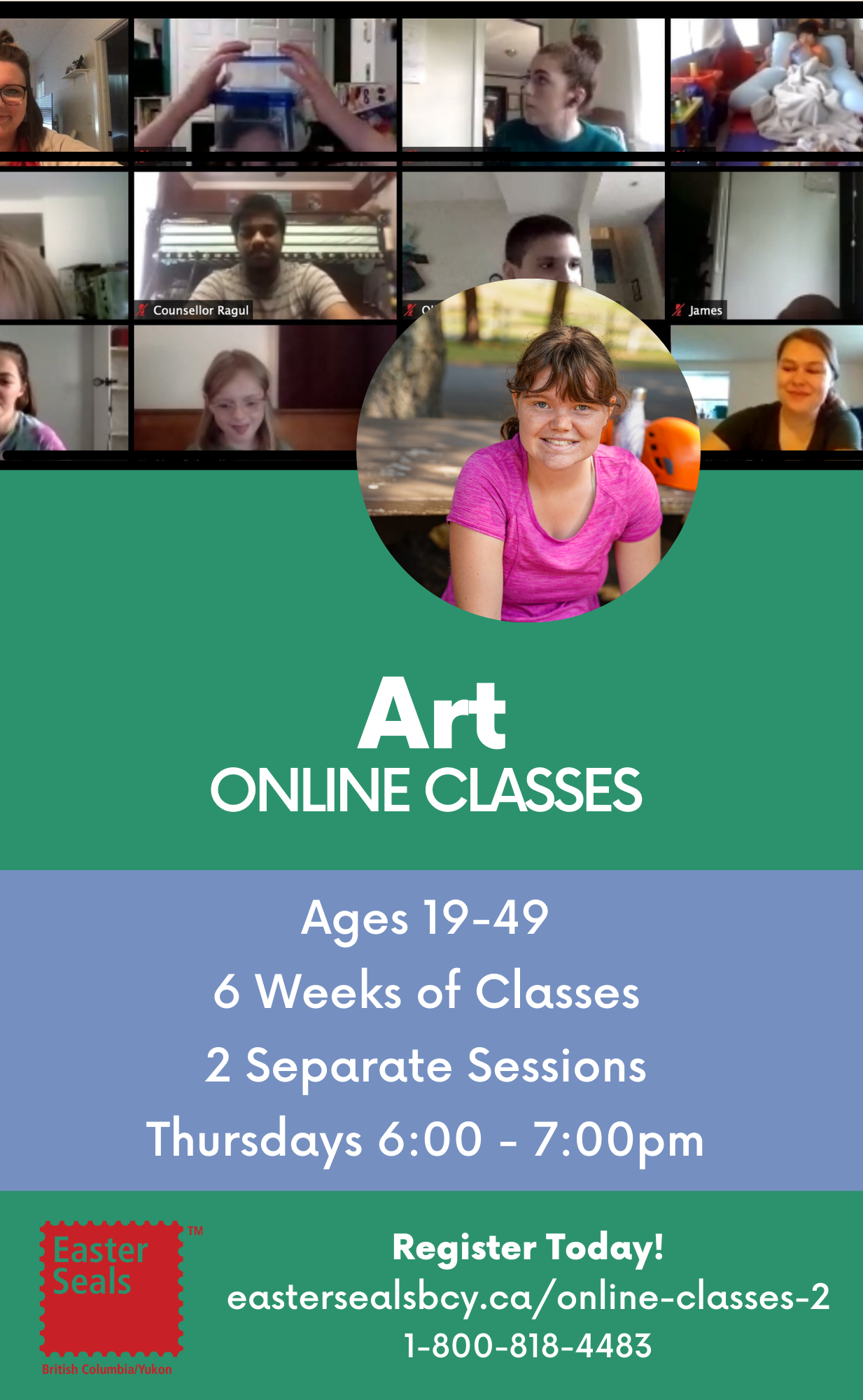Art Classes for Ages 19-49