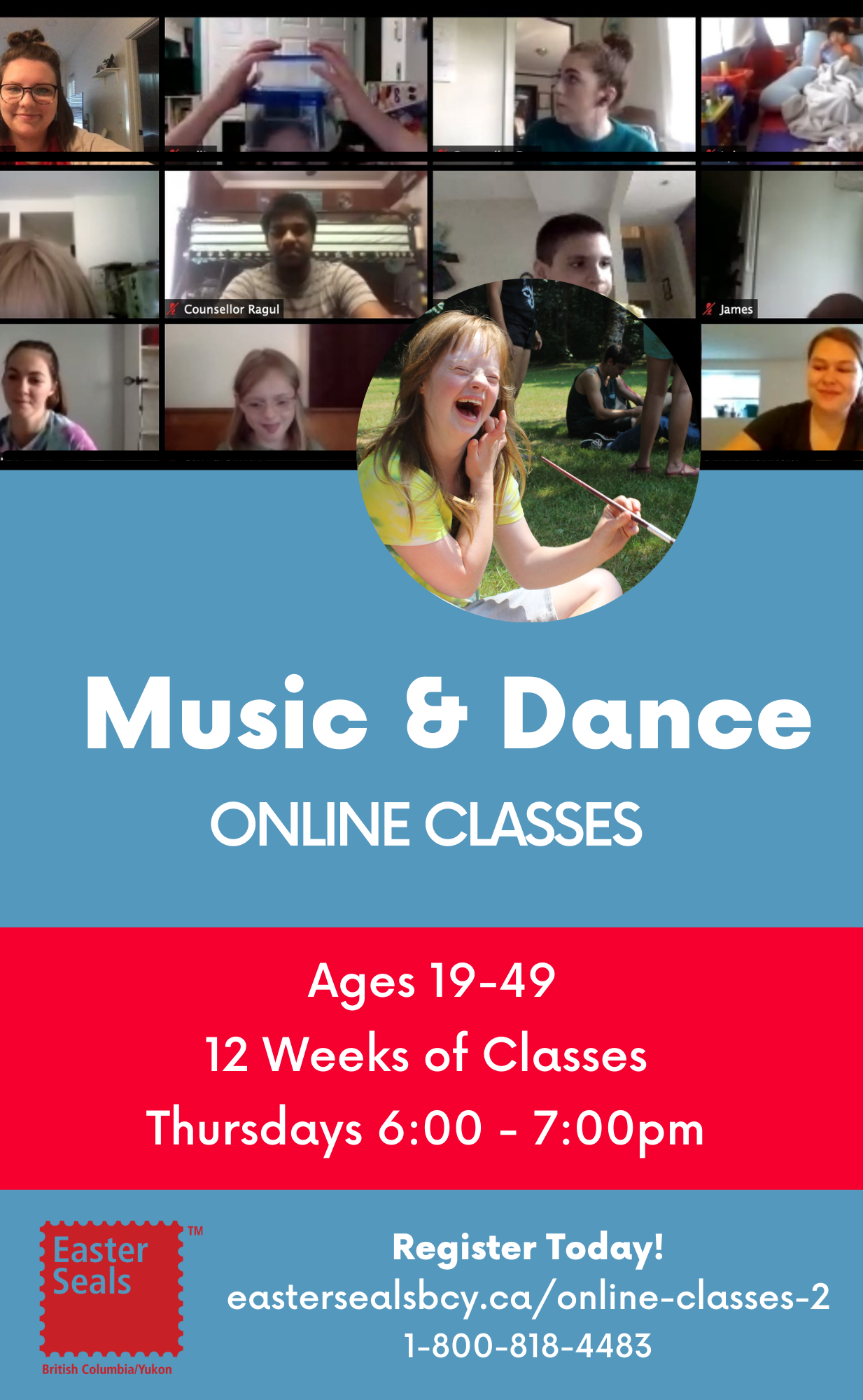 Music and Dance Classes for Ages 19-49