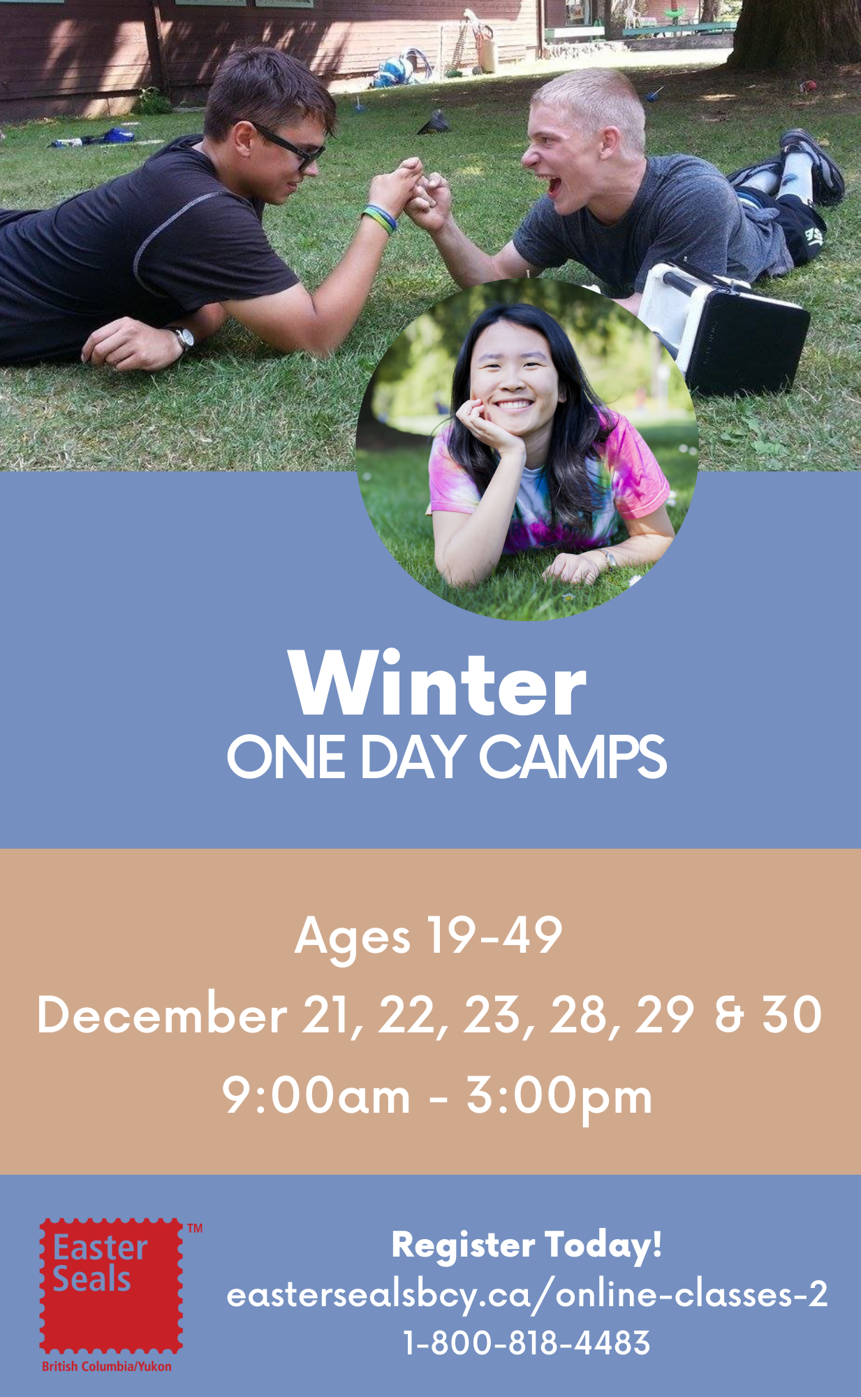 Winter One Day Camps for Ages 19-49