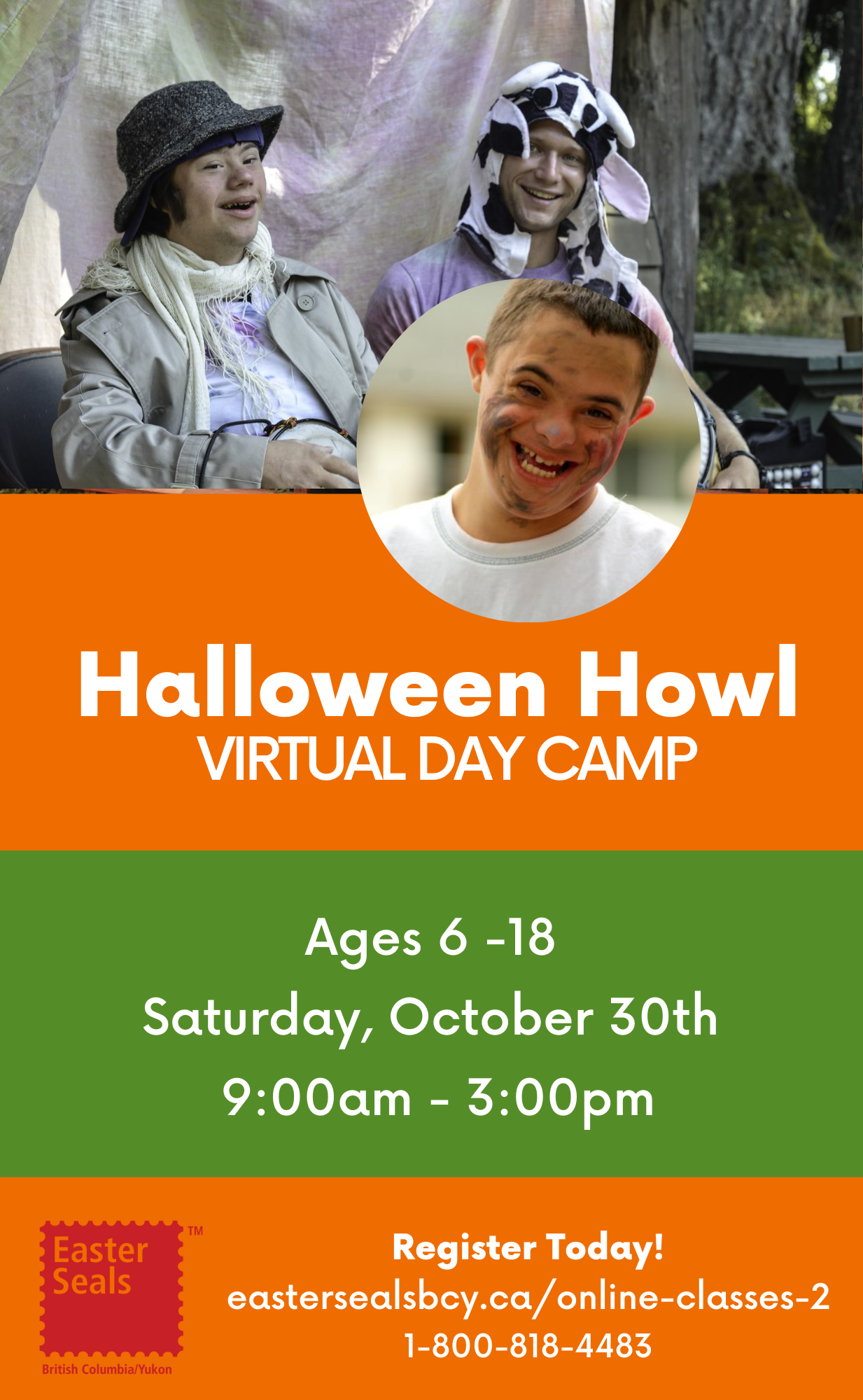 Halloween Howl Virtual Day Camp for Ages 6-18