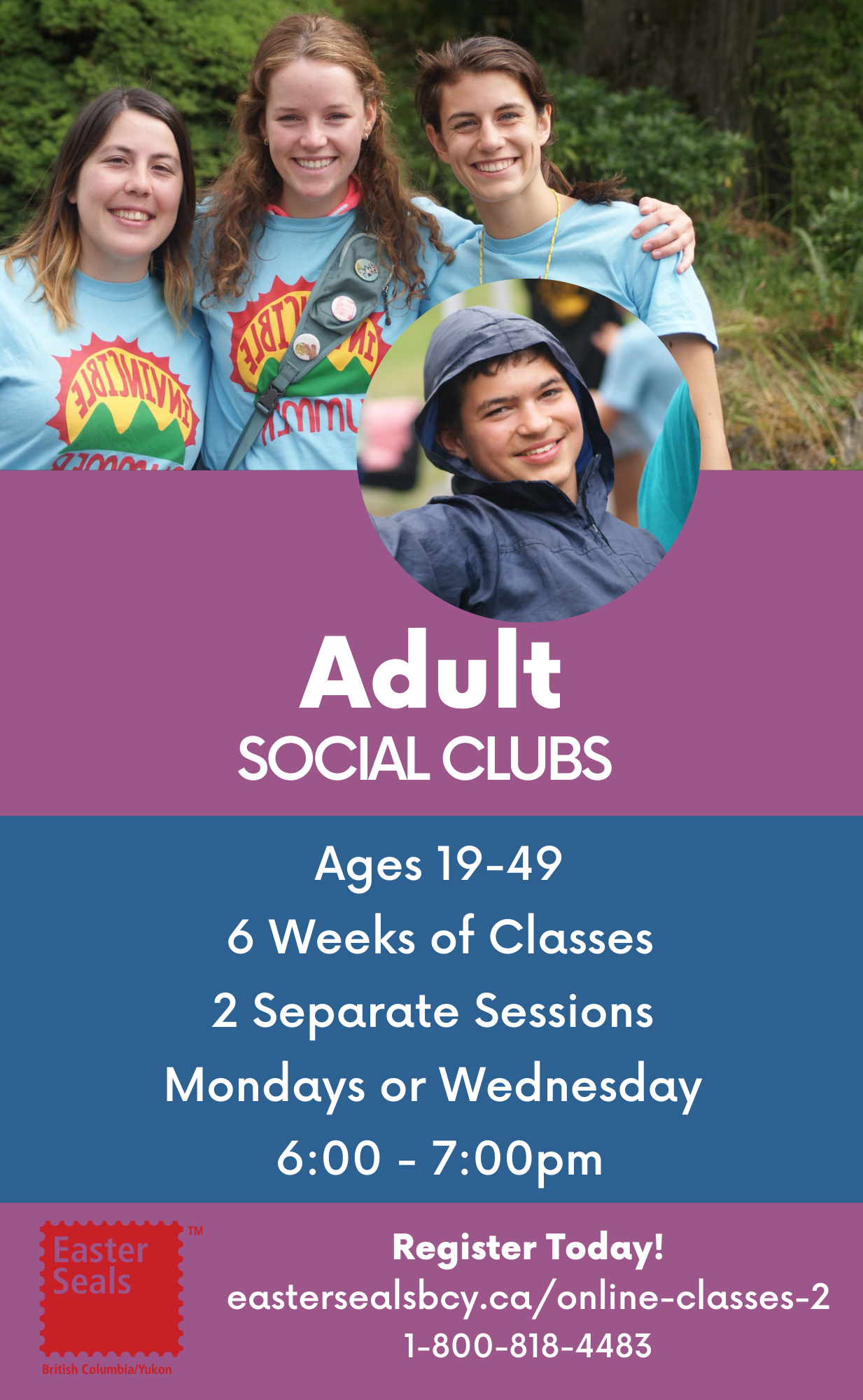 Adult Social Clubs for Ages 19-49