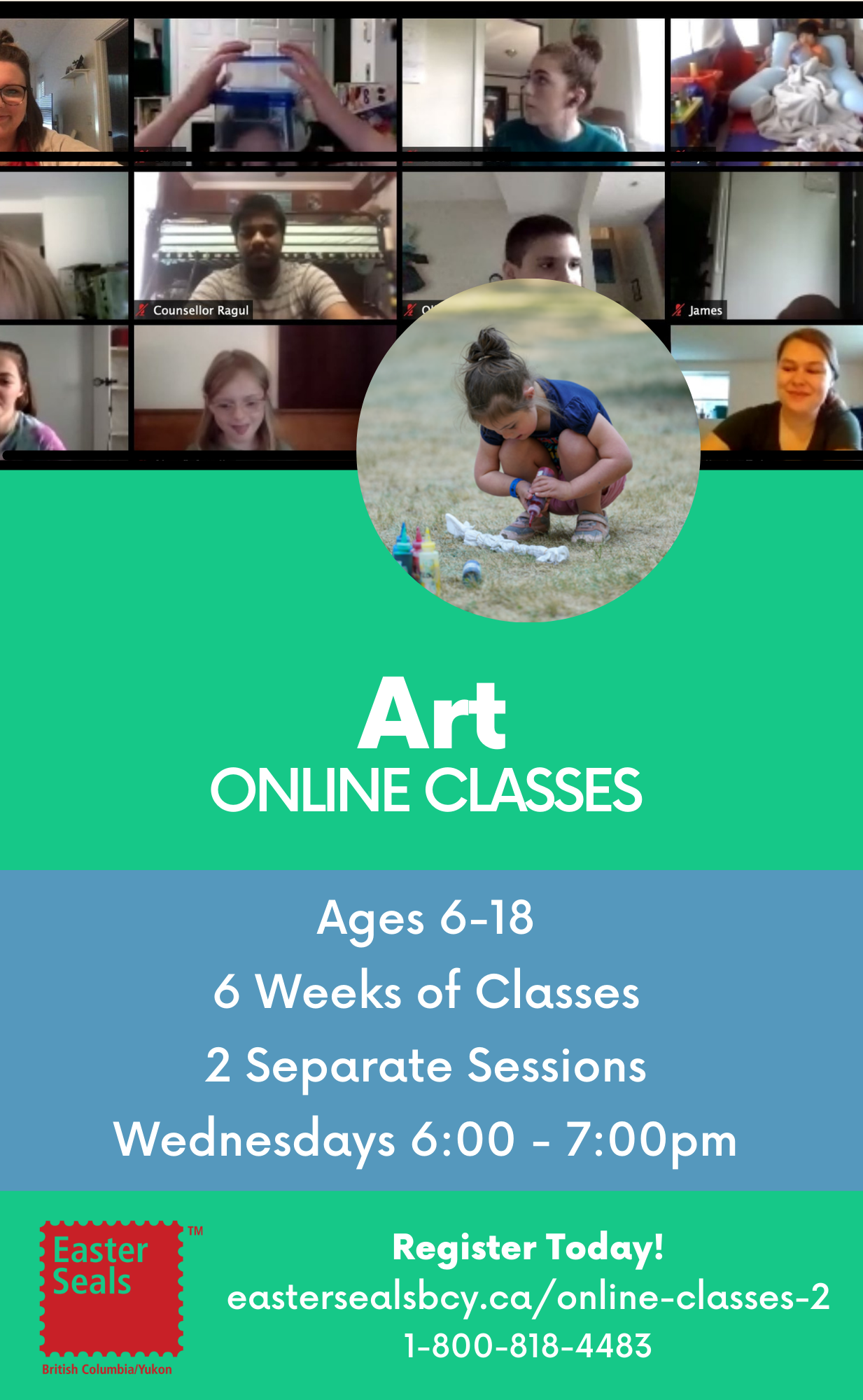 Art Classes for Ages 6-18