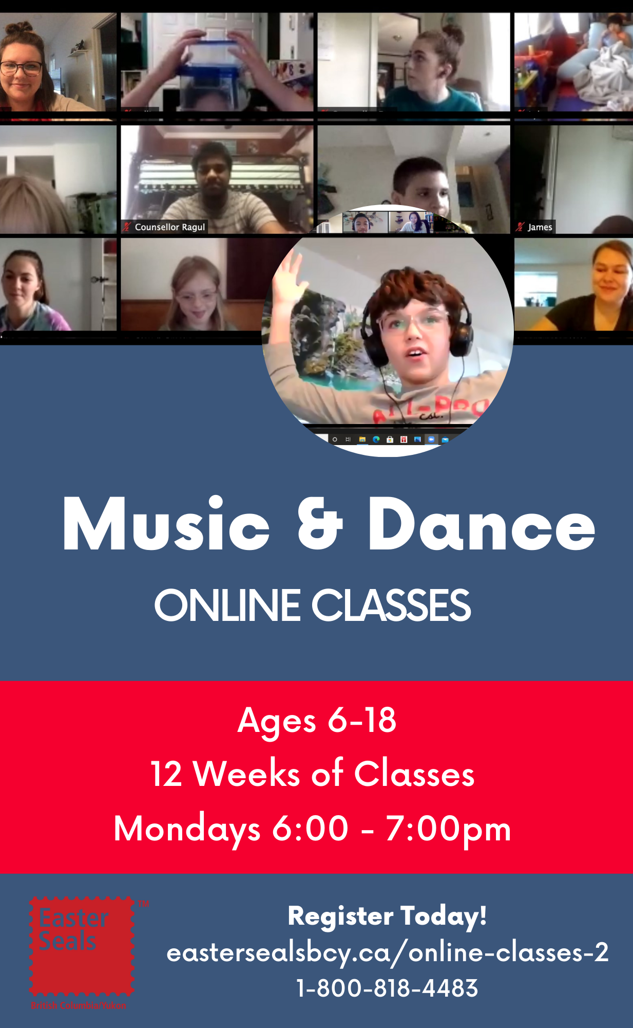 Music and Dance Classes for Ages 6-18