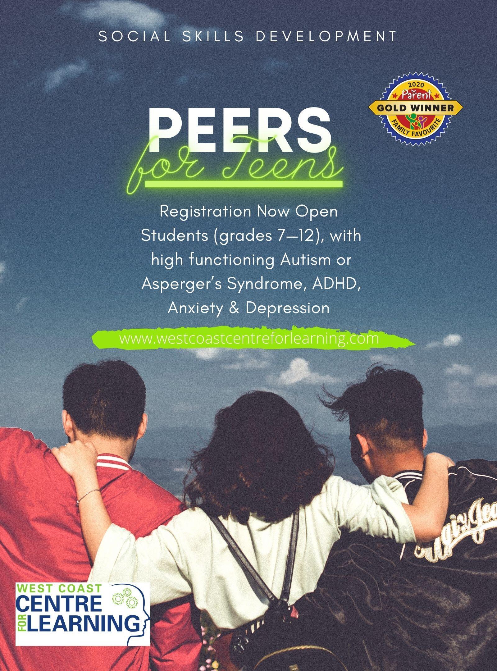 PEERS for TEENS - Online through Zoom