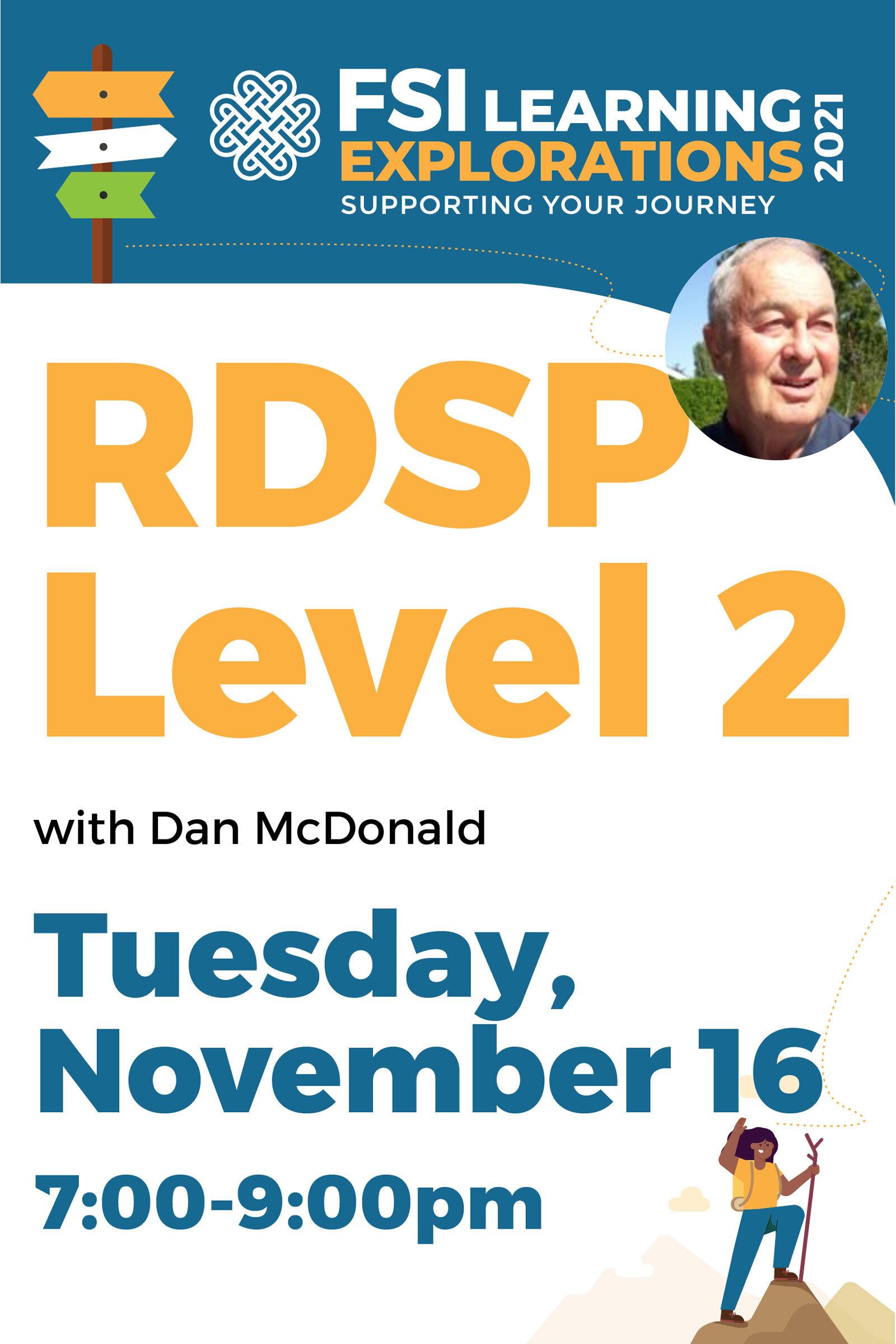 FSI Learning Explorations ~ RDSP Level 2